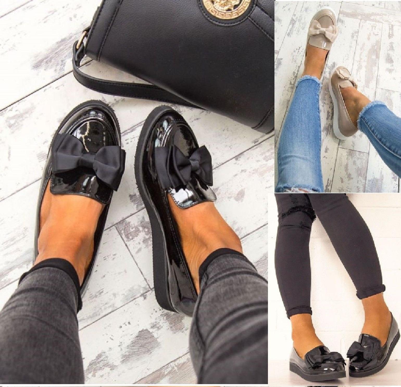 WOMENS LADIES FLAT CREEPER CHUNKY SOLE