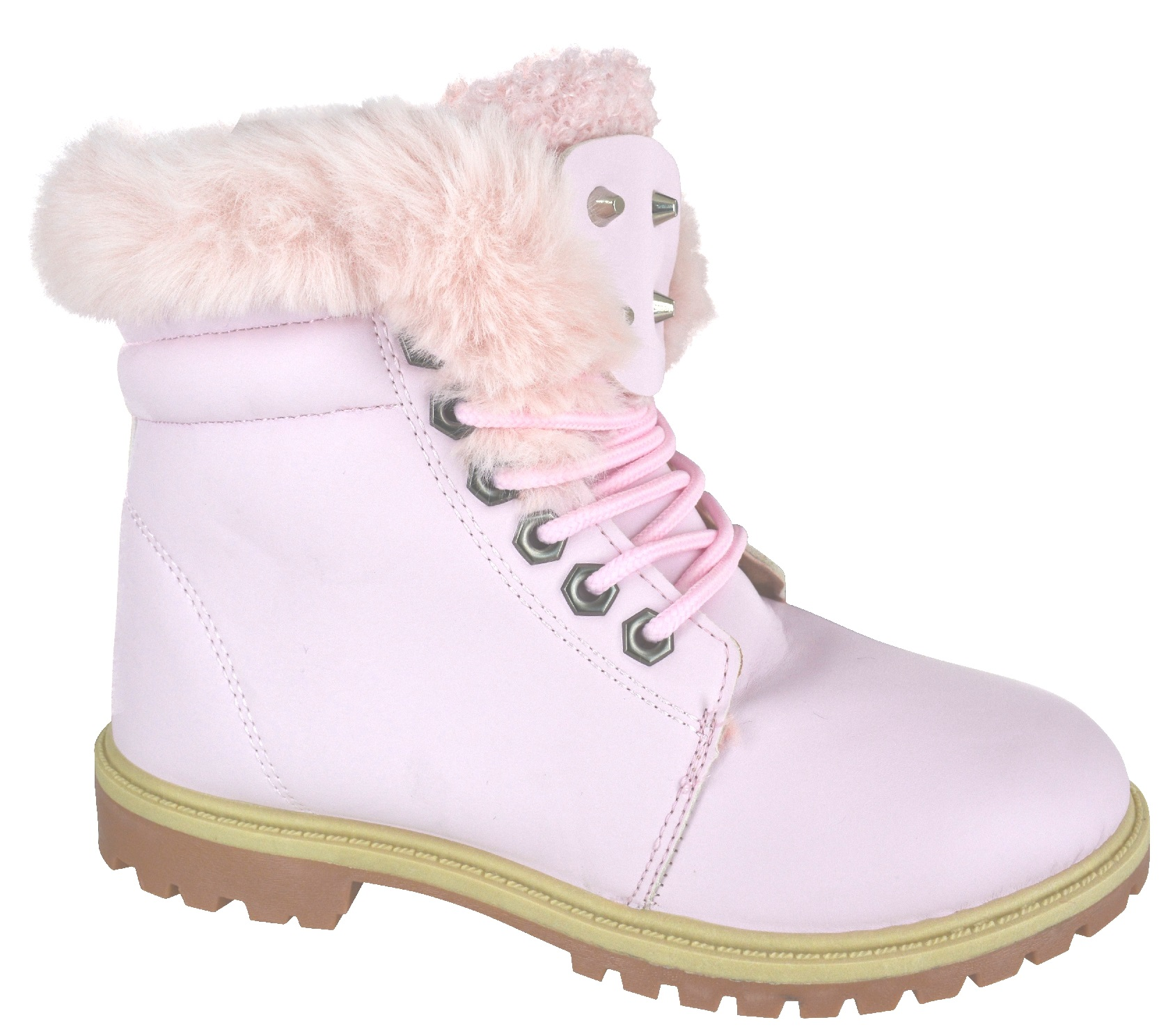 a03a5209518 Details about NEW LADIES WOMENS WINTER WARM ANKLE FUR LINED GRIP FLAT SOLE  SNOW BOOTS SIZE 3-8