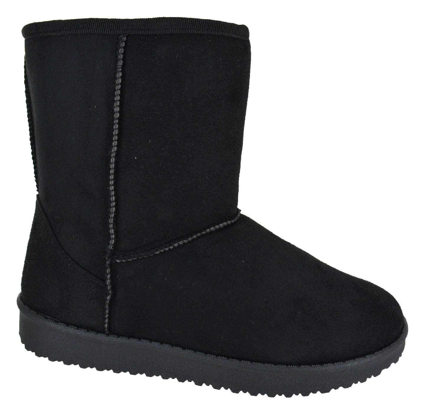 LADIES WOMENS ANKLE FAUX FUR LINED WARM WINTER SNOW SNUGG BOW SHOES BOOTS SIZE