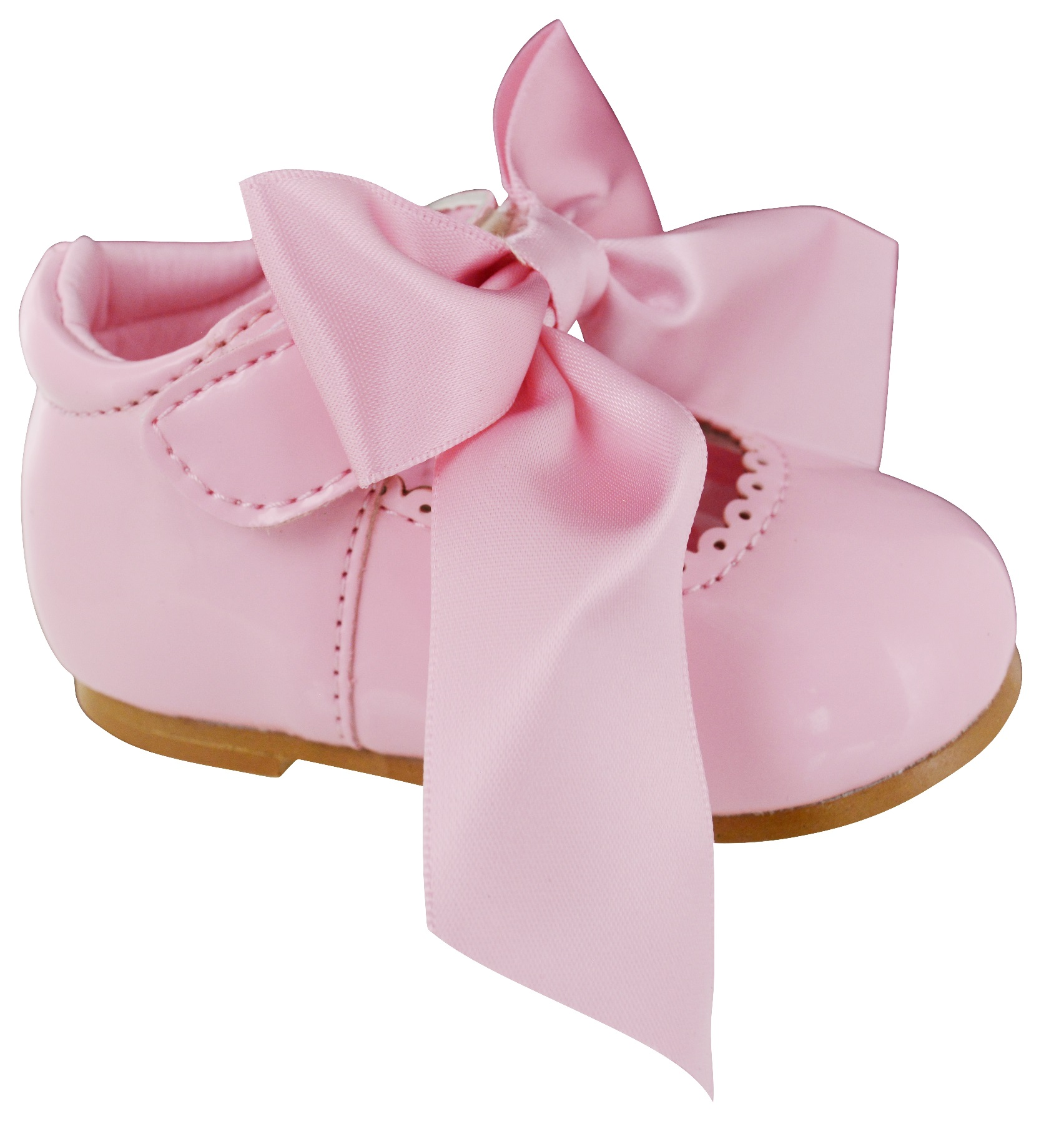INFANTS-BABY-GIRLS-PATENT-GLOSSY-SATIN-BOW-TOODLER-WEDDING-FLAT-SHOES-SIZE-1-8