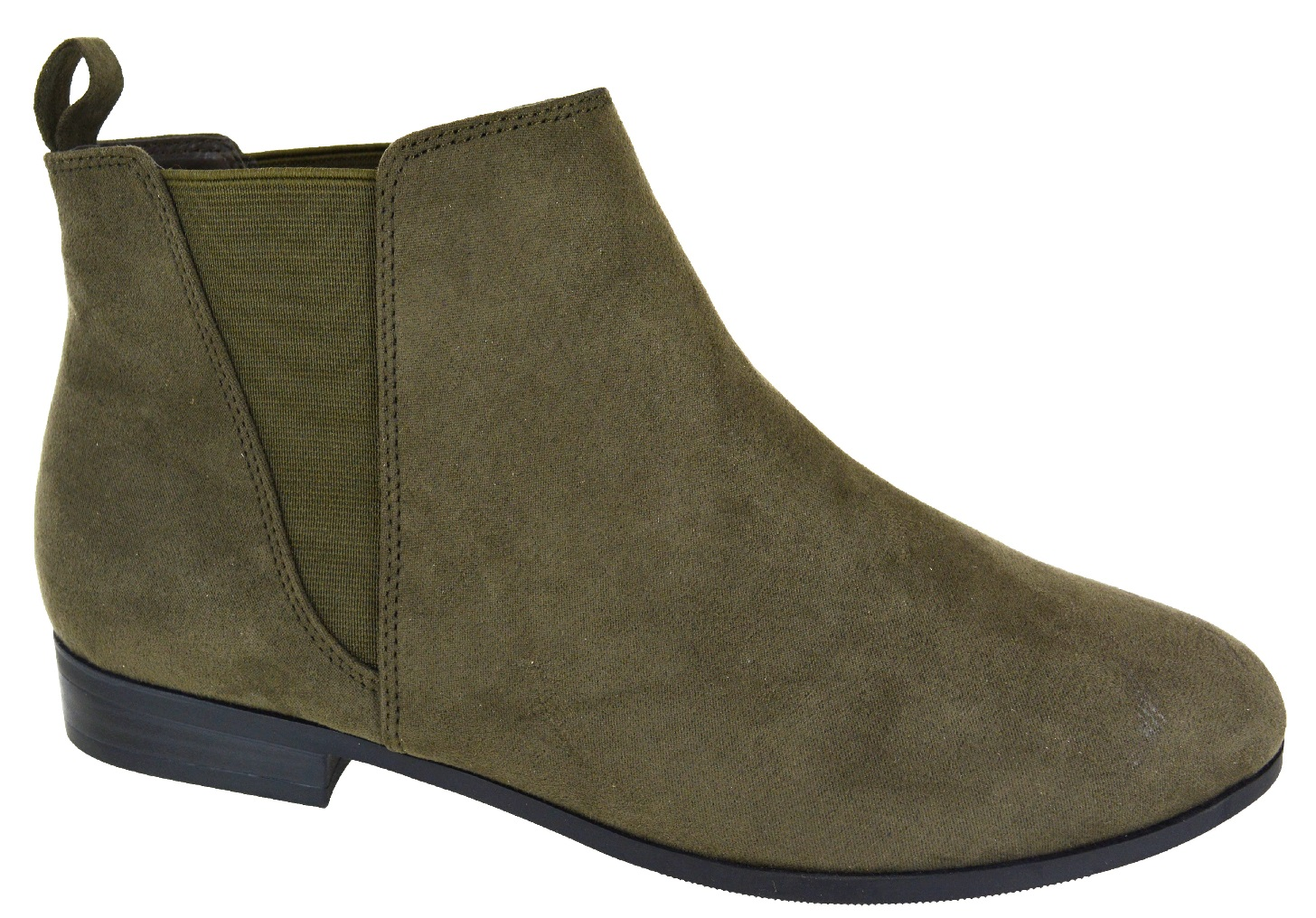 LADIES-WOMENS-FLAT-ANKLE-CHELSEA-CAUSAL-LOW-HEEL-DEALER-PULL-ON-SHOES-BOOTS-SIZE