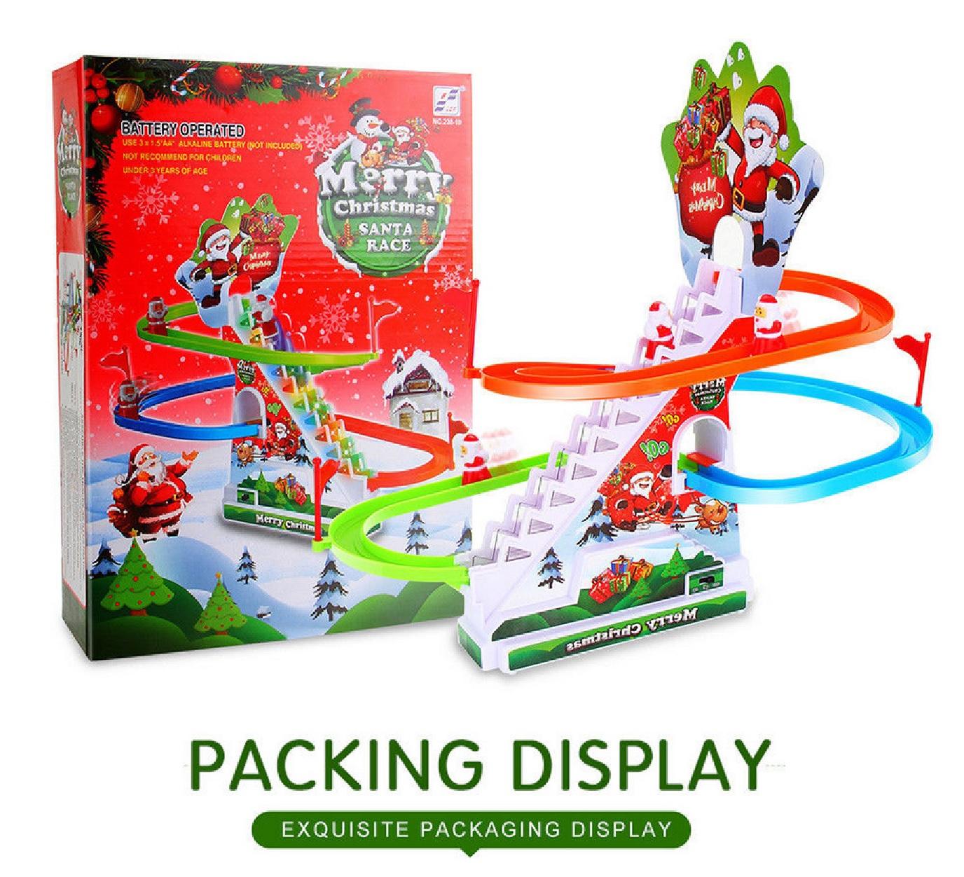 KIDS TOYS SANTA CLAUS SLIDE GAME CLASSIC RACER TRACK CHRISTMAS MUSIC ...