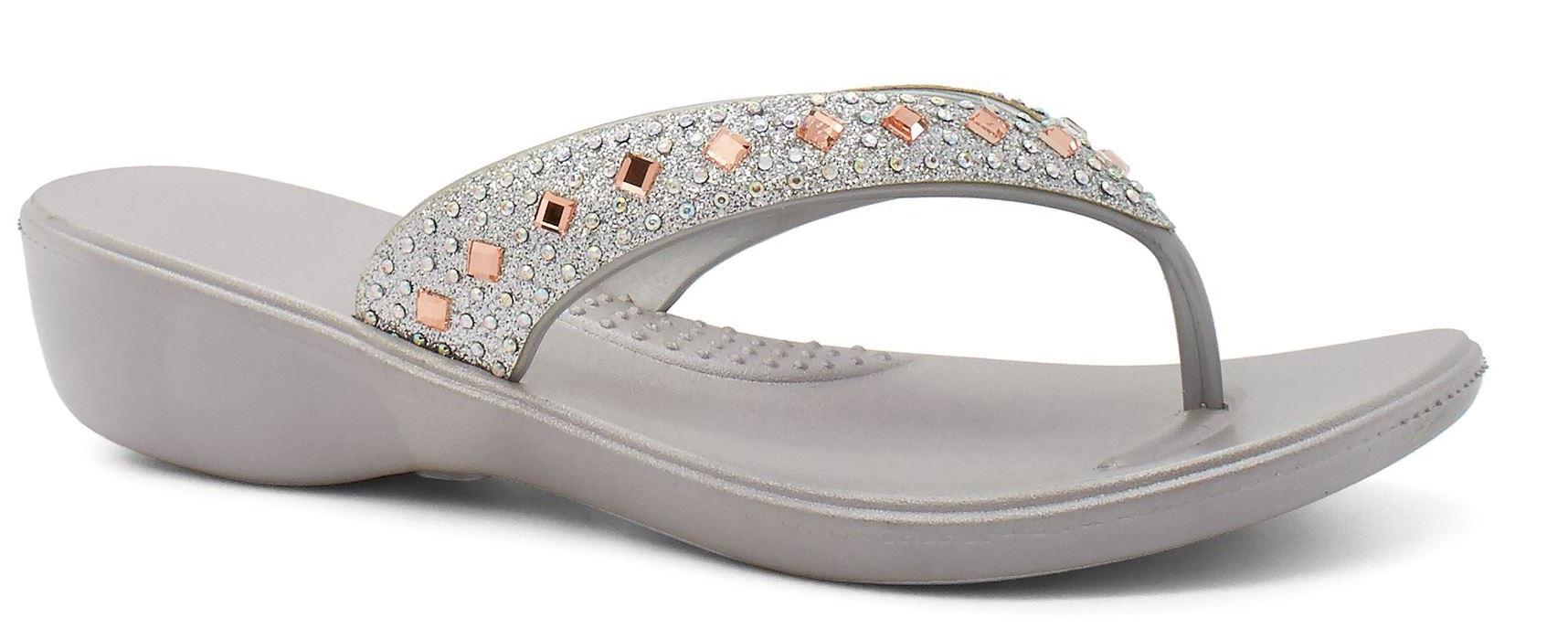 6367fbda4758a1 ... LADIES-WOMENS-LOW-HEEL-WEDGE-SUMMER-DIAMANTE-FLIP-  Ladies DUNLOP Brwon  Textured Raffia High Wedge Heel Toe Post Flip Flop Thong Mule Sandals ...