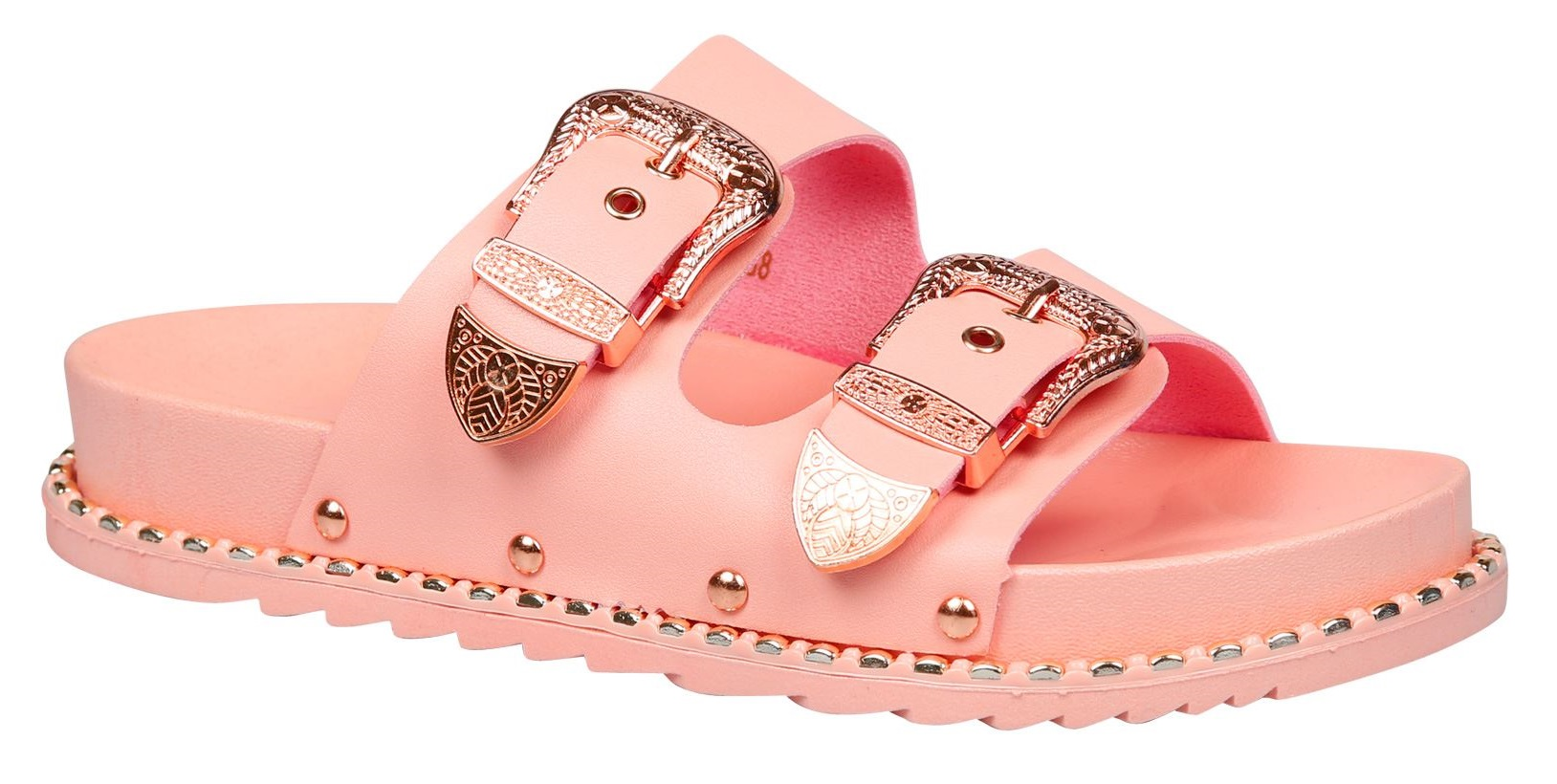 LADIES-WOMENS-FLAT-SLIDERS-STUDDED-SLIP-ON-MULE-SUMMER-HOILDAY-SANDALS-SHOES-SZ thumbnail 16