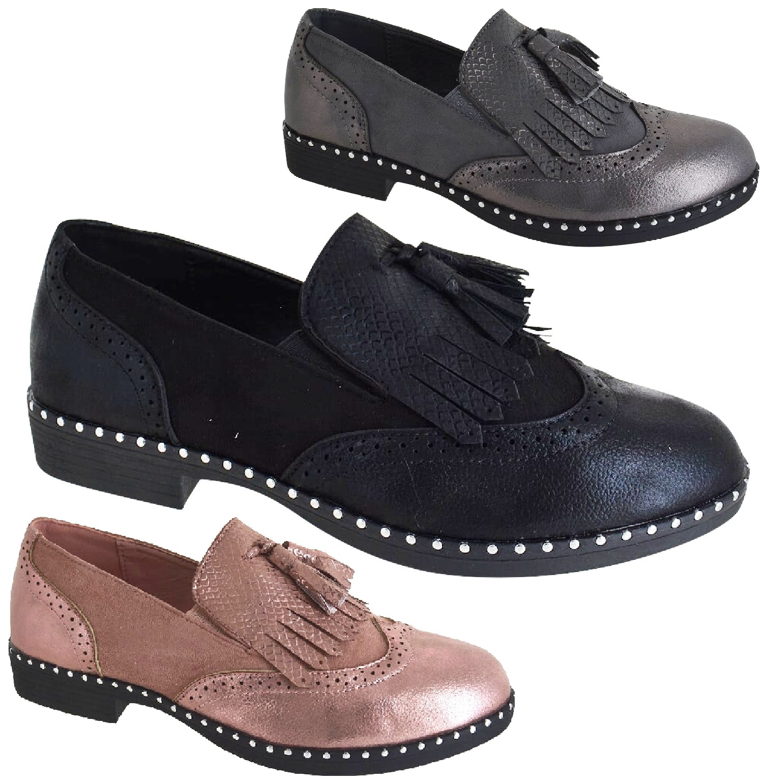 892793 Klassische Damen Pumps Keilpumps Leder-Optik Schuhe