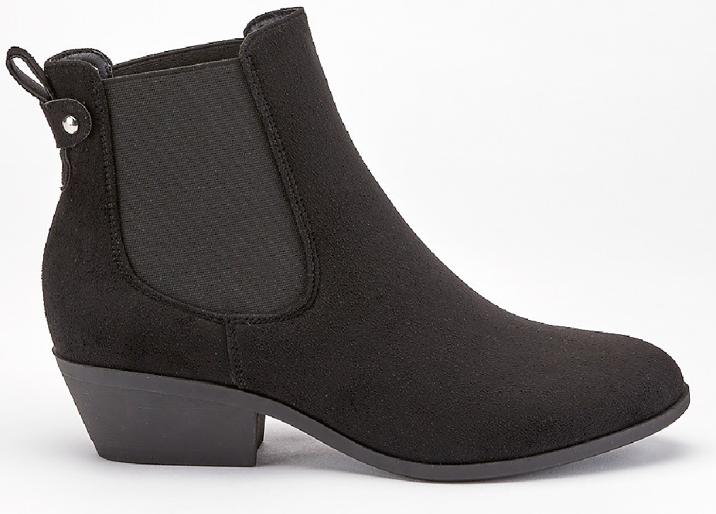 LADIES-WOMENS-LOW-HEEL-BLOCK-ELASTIC-ANKLE-WHIP-CHELSEA-RIDING-BOOTS-SHOES-SIZE thumbnail 2