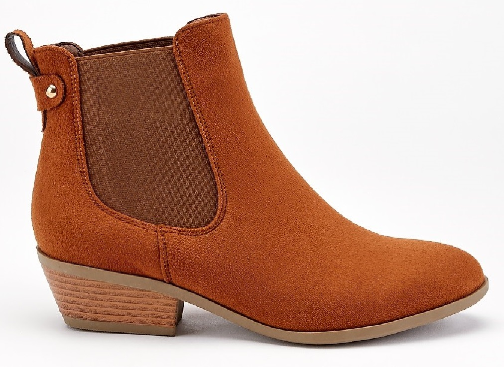 LADIES-WOMENS-LOW-HEEL-BLOCK-ELASTIC-ANKLE-WHIP-CHELSEA-RIDING-BOOTS-SHOES-SIZE thumbnail 4