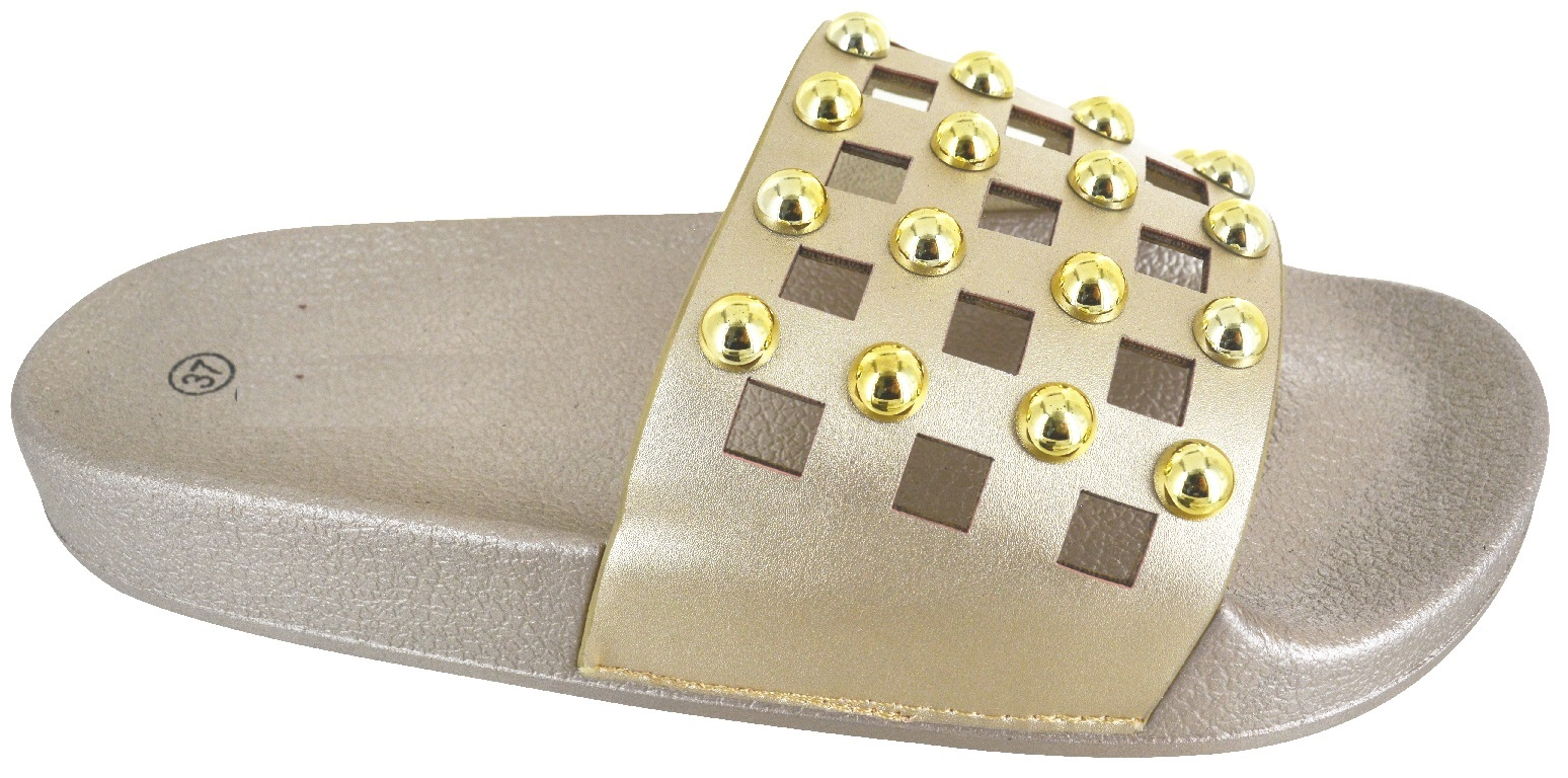 LADIES-WOMENS-FLAT-STUDDED-CAGE-DIAMANTE-SUMMER-SLIDER-SANDALS-SHOES-SIZE-3-8