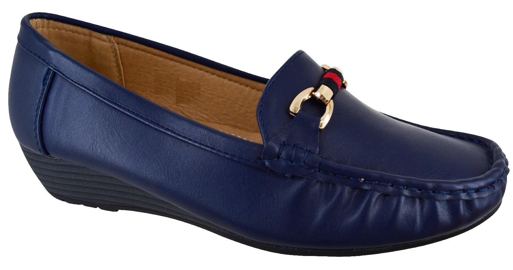 Senoras-Mujeres-Tacon-Bajo-Cuna-Confort-Mocasines-Zapatos-Trabajo-De-Disenador-Talla-3-8-Nuevo