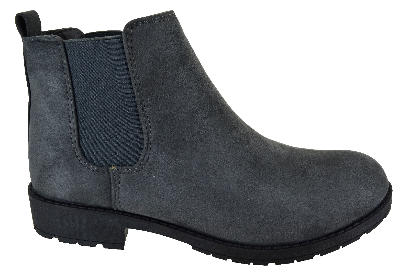 LADIES-WOMENS-CHELSEA-DEALER-SLIP-ON-FLAT-ANKLE-CAUSAL-LOW-HEEL-SHOES-BOOTS-SIZE thumbnail 4