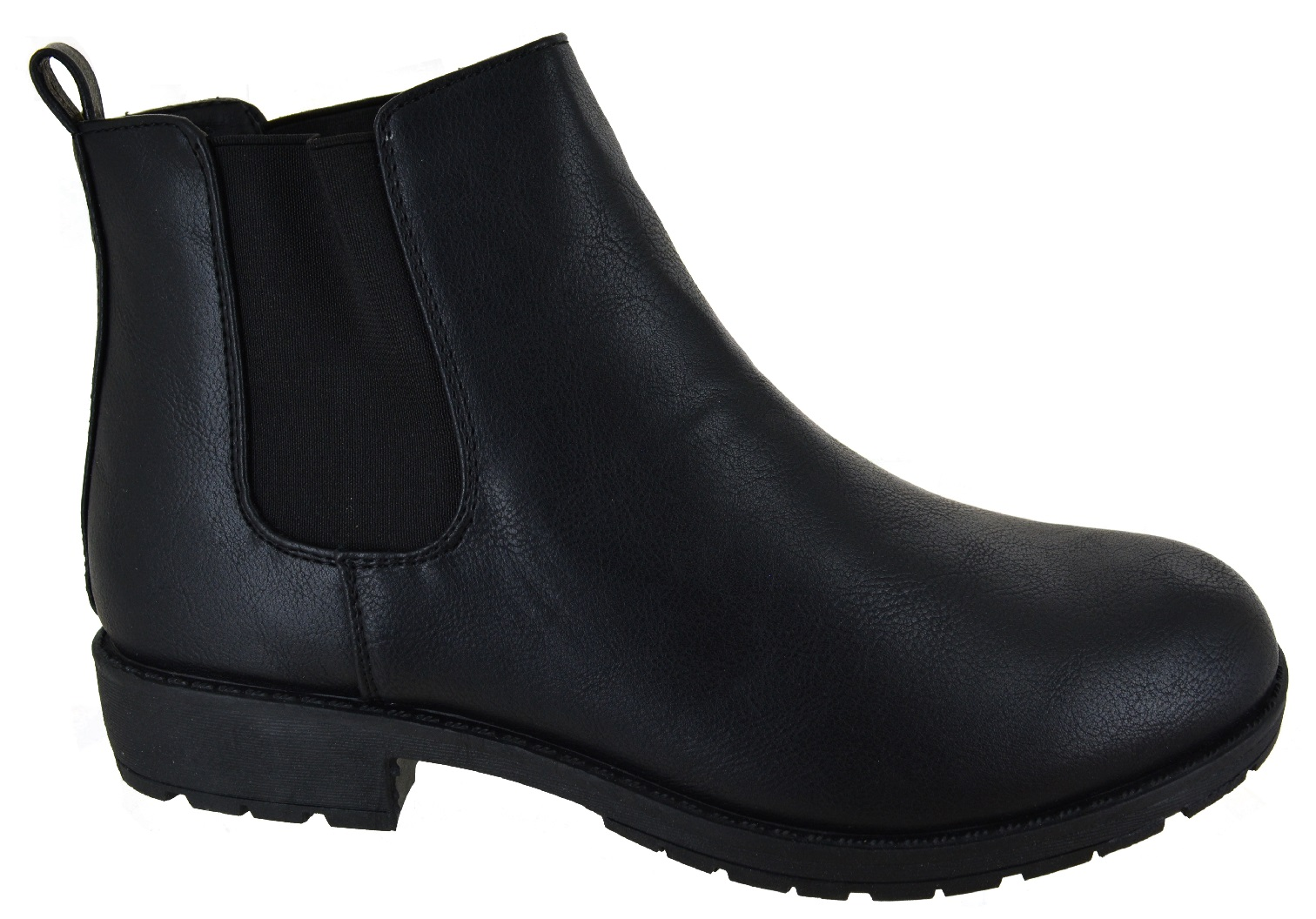 LADIES-WOMENS-CHELSEA-DEALER-SLIP-ON-FLAT-ANKLE-CAUSAL-LOW-HEEL-SHOES-BOOTS-SIZE thumbnail 2