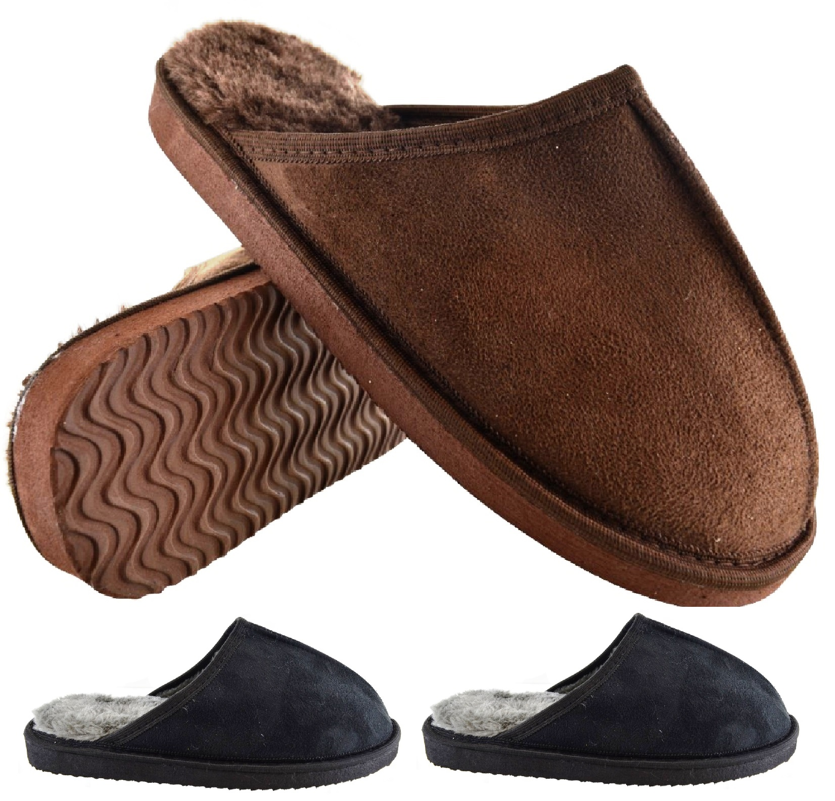MENS NEW SLIP ON WARM COOL COSY LUXURY INDOOR SLIP ON SHOES SLIPPERS MULES SIZE