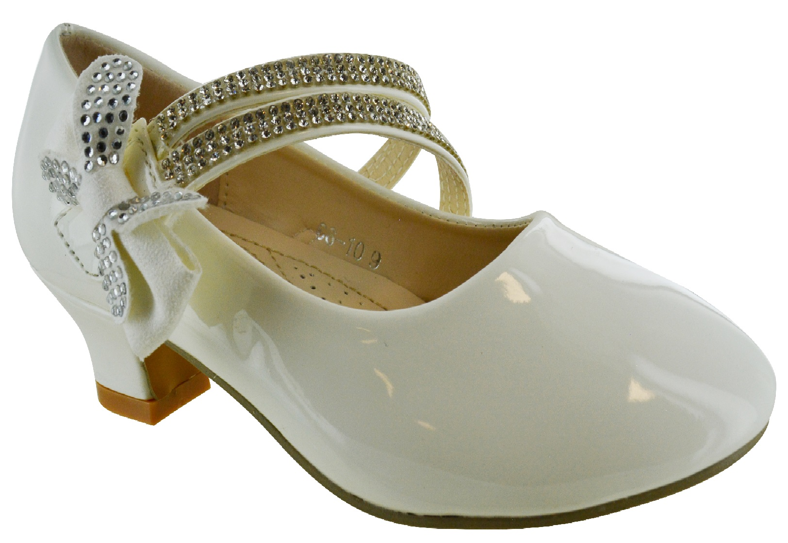 KIDS-GIRLS-CHILDRENS-HIGH-LOW-MID-HEEL-BOW-WEDDING-BRIDESMAID-PARTY-SANDALS-SHOE thumbnail 6