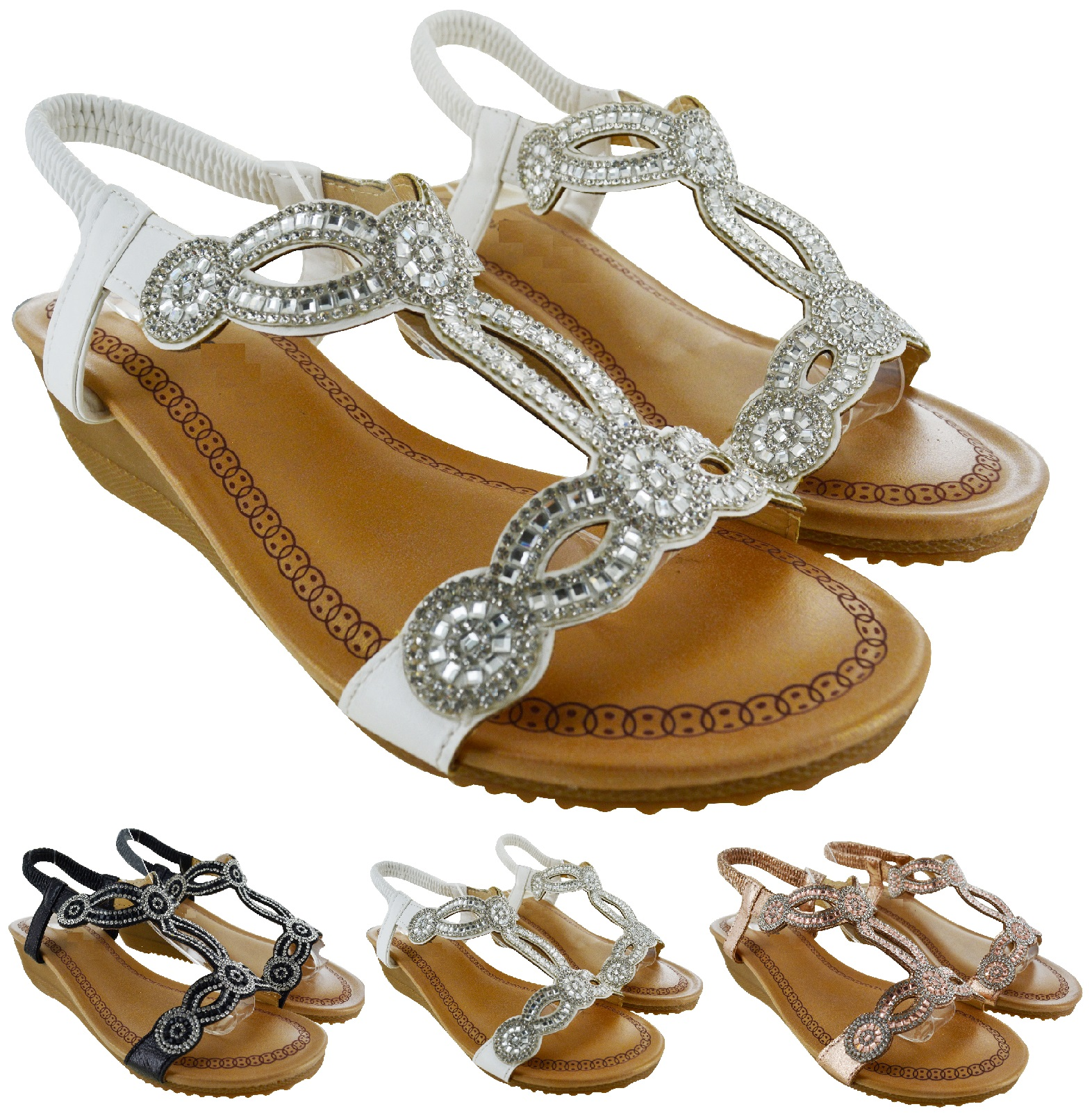 57ab7124a73 Details about NEW LADIES WOMENS LOW HEEL WEDGE SUMMER BEACH SLING BACK  SANDALS SHOES SIZE 3-8