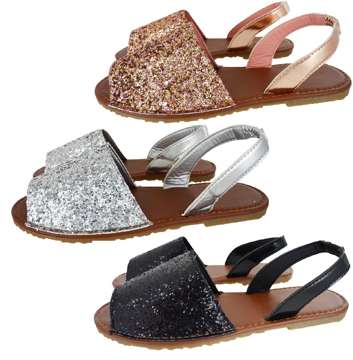 Clearance Swiusd Womens Retro Sequin Glitter Flat Sandals Comfy Slippers Flip Flops Weaved Bottom Straps Beach Dress Shoes