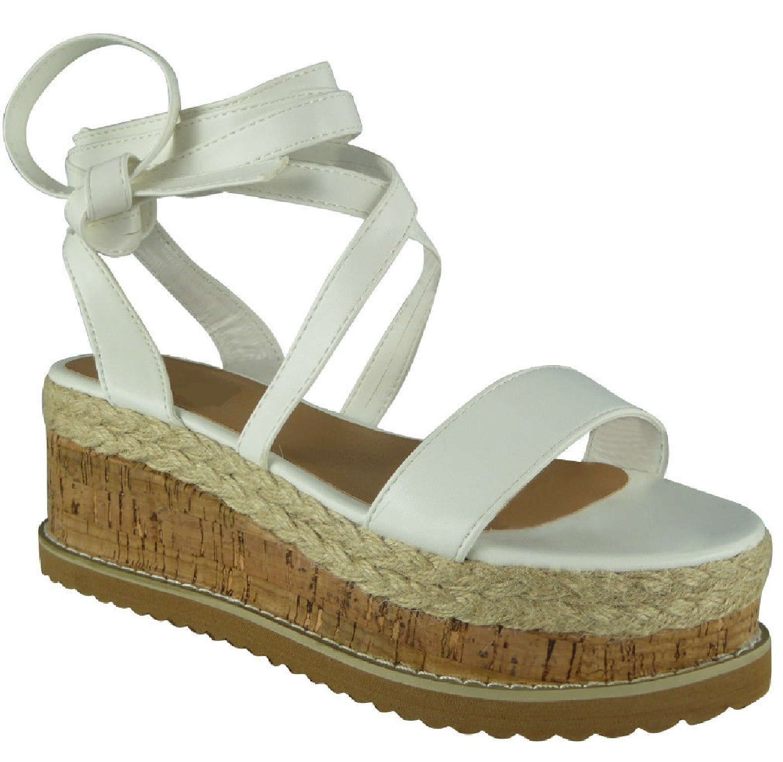 LADIES-WOMENS-FLAT-WEDGE-LACE-TIE-UP-ESPADRILLES-PLATFORM-WEDGE-SUMMER-SANDALS thumbnail 10