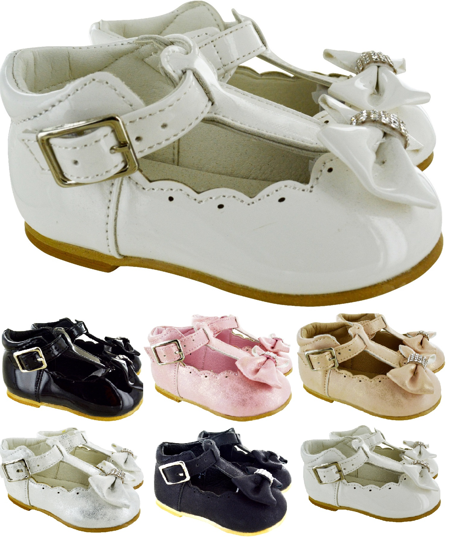 GIRLS INFANTS SPANISH WEDDING PARTY SUMMER PUMPS KIDS CHILDRENS BABY SHOES SIZE