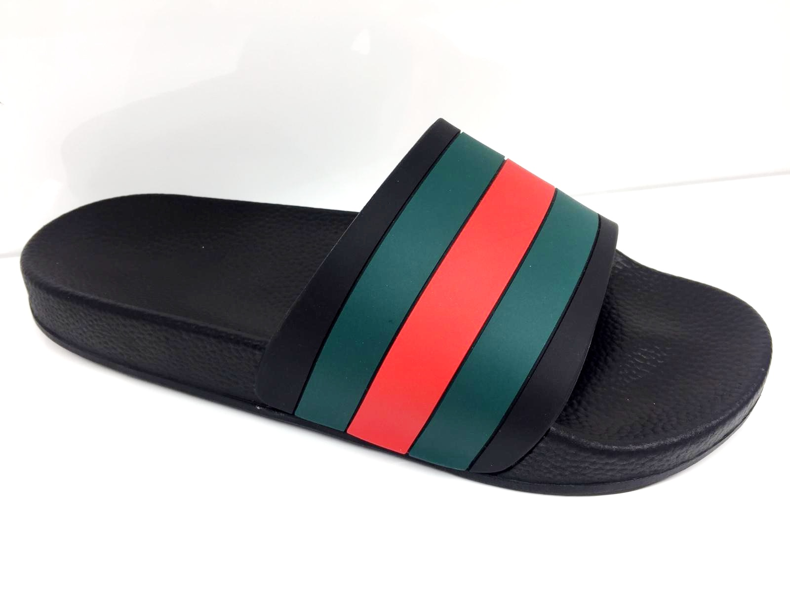LADIES-BEACH-SUMMER-HOLIDAY-COMFY-DESIGNER-STYLE-STRIPE-SLIDERS-WOMEN-SHOES-SIZE thumbnail 2