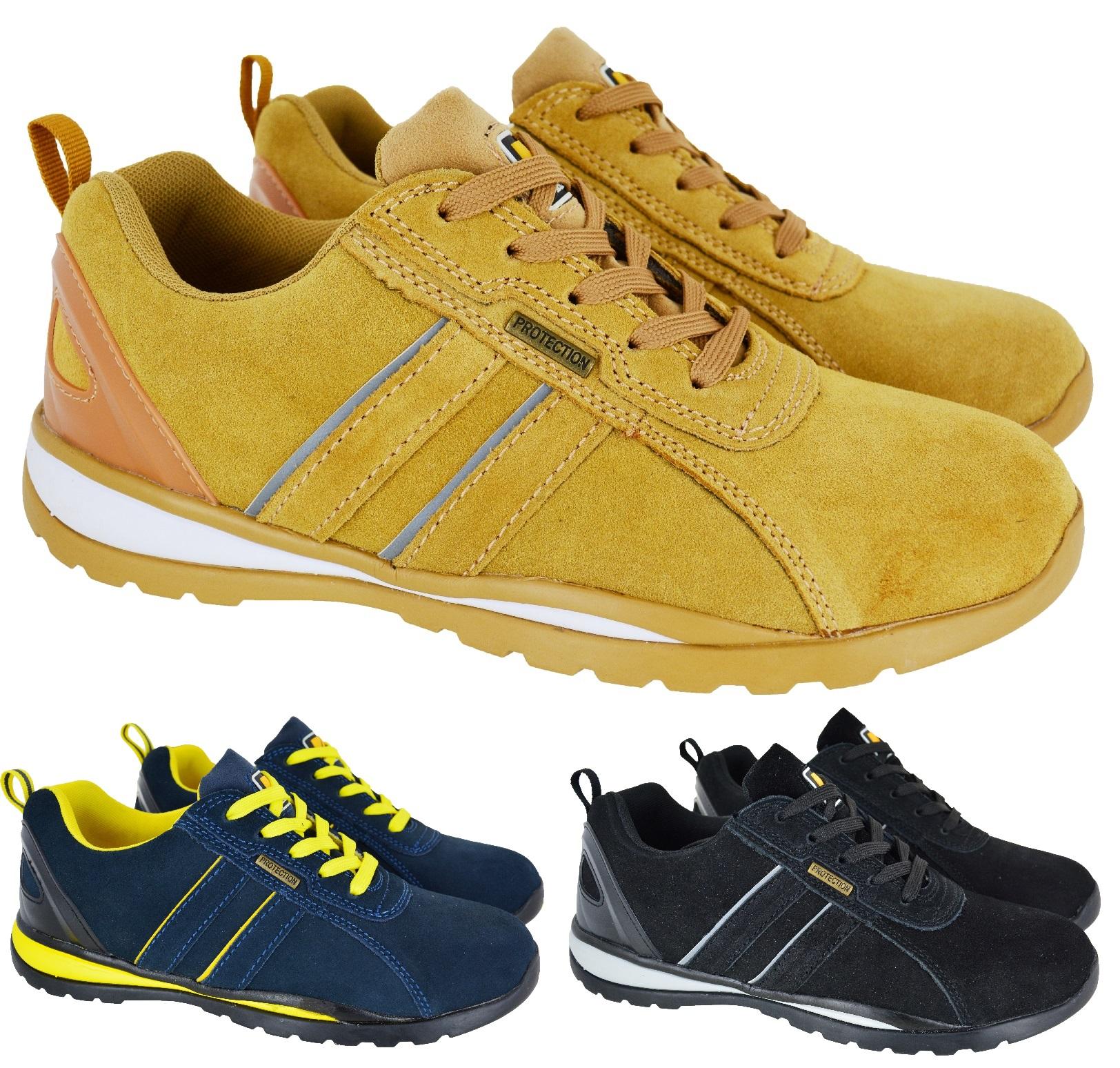 Utile Construction En Cuir Baskets De Sécurité Homme Léger En Acier Bouts Bottes Chaussures Taille-afficher Le Titre D'origine