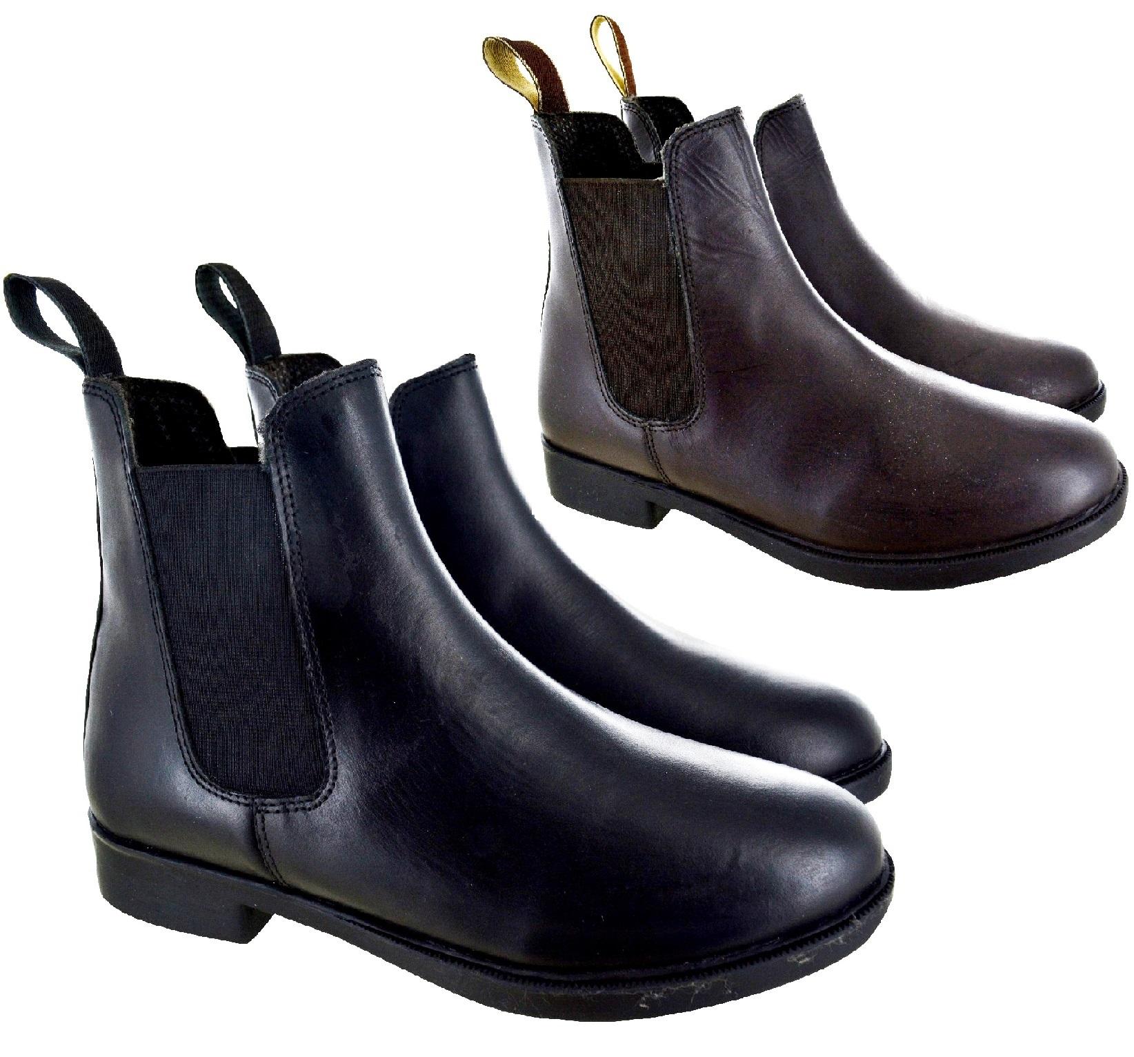 botines de señora de piel