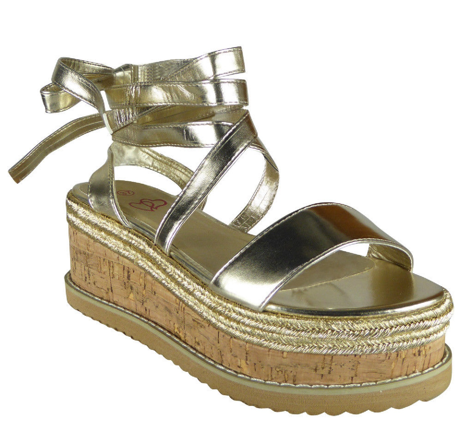 LADIES-WOMENS-FLAT-WEDGE-LACE-TIE-UP-ESPADRILLES-PLATFORM-WEDGE-SUMMER-SANDALS thumbnail 5