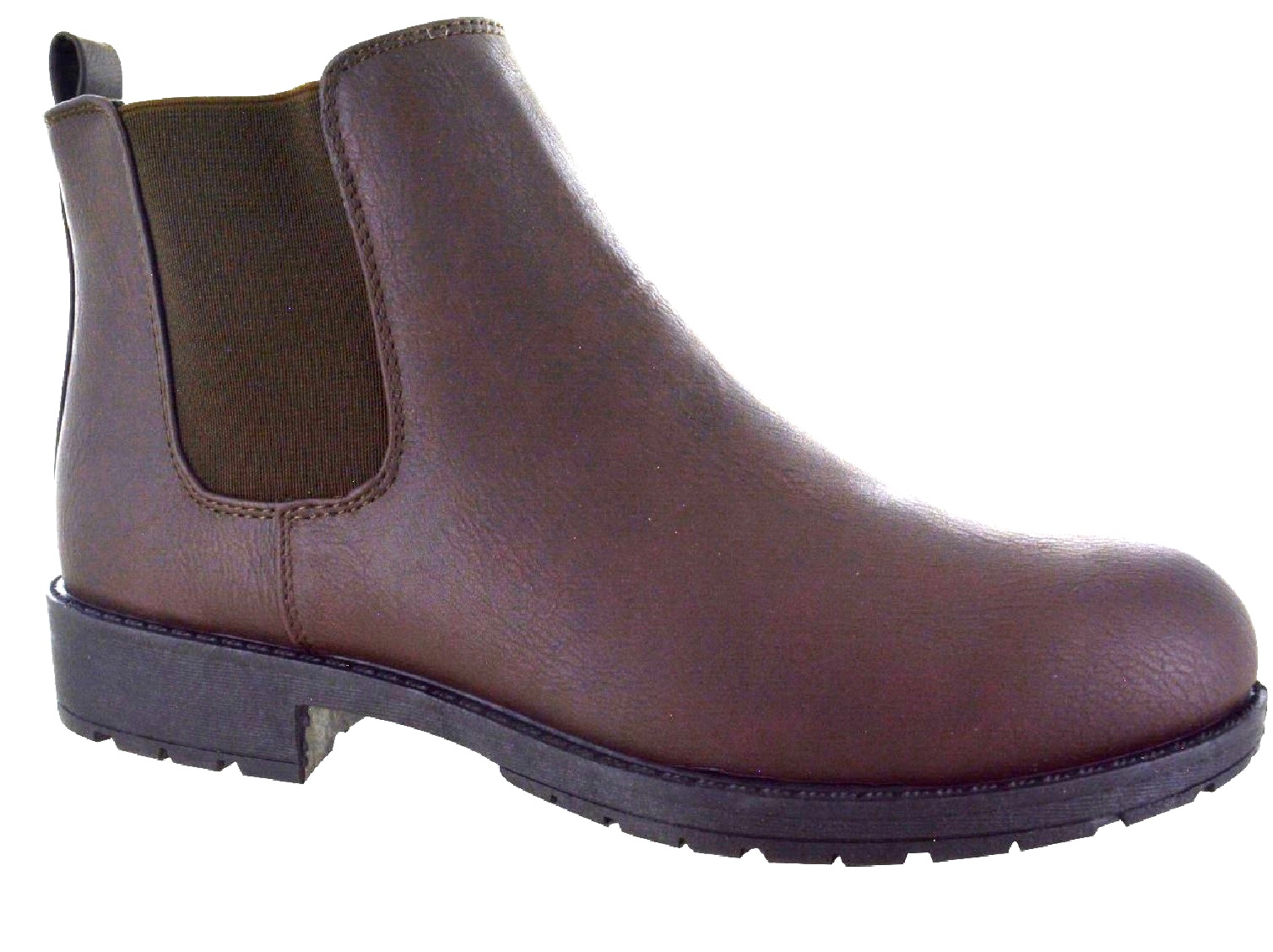 LADIES-WOMENS-CHELSEA-DEALER-SLIP-ON-FLAT-ANKLE-CAUSAL-LOW-HEEL-SHOES-BOOTS-SIZE thumbnail 5