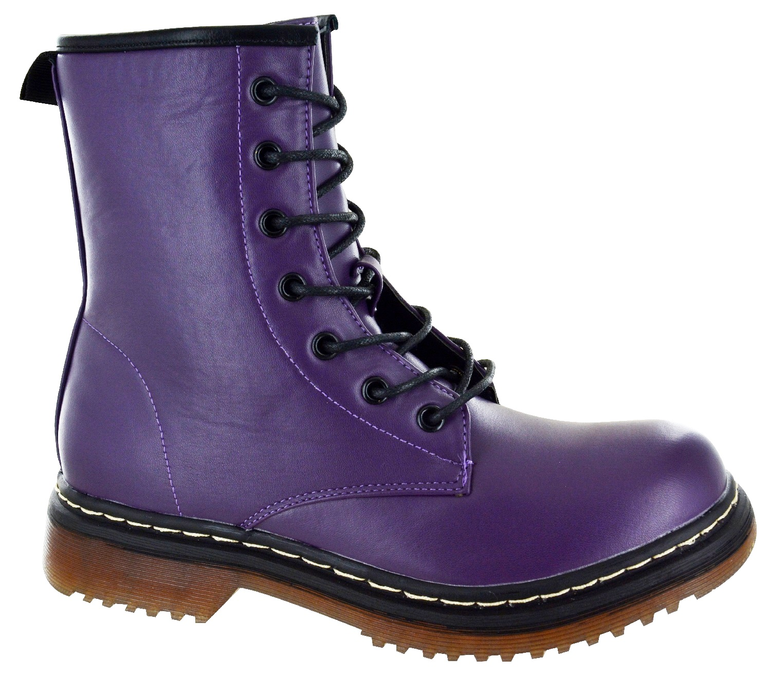 LADIES-WOMENS-LOW-BLOCK-HEEL-ANKLE-COMBAT-DOC-CHUNKY-LACE-UP-DM-BOOTS-SIZE-3-8 thumbnail 11