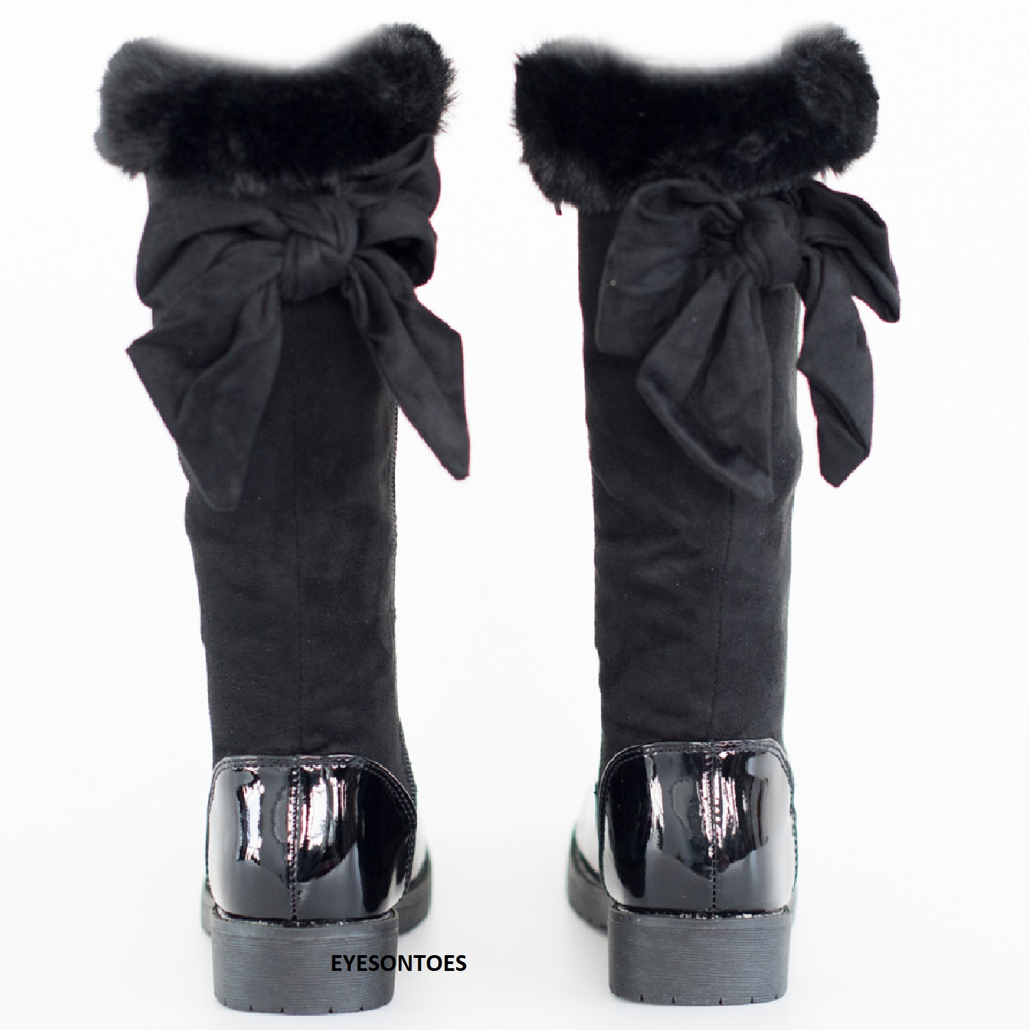 Weiyun Weiyun High Boots Children Kid Baby Girls Solid Over The Knee Flock Warm Boots Winter Shoes Brown