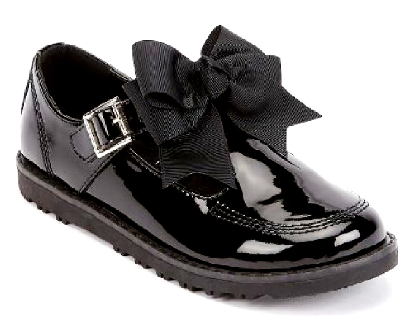 WOMENS-LADIES-FLAT-CREEPER-CHUNKY-SOLE-SCHOOL-WORK-DOLLY-LOAFERS-BOW-SHOES-SIZE thumbnail 2