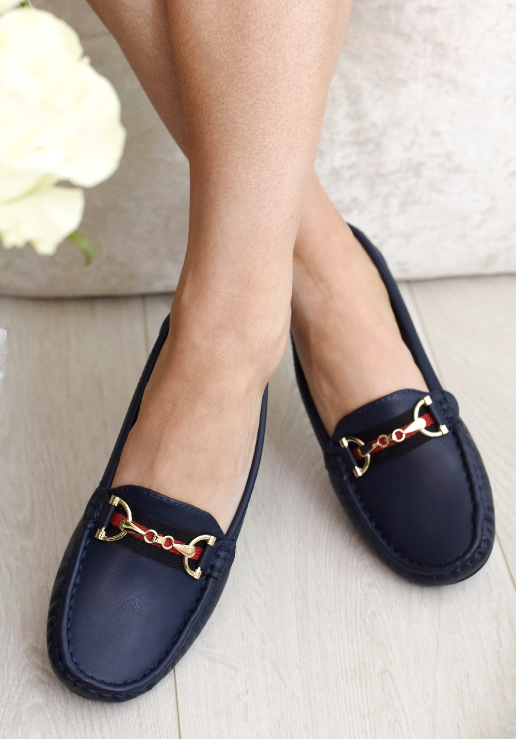 LADIES-WOMENS-FLATS-SLIP-ON-LOAFERS-WORK-OFFICE-BUCKLE-PUMPS-COMFY-SHOES-SZ-3-8 thumbnail 11