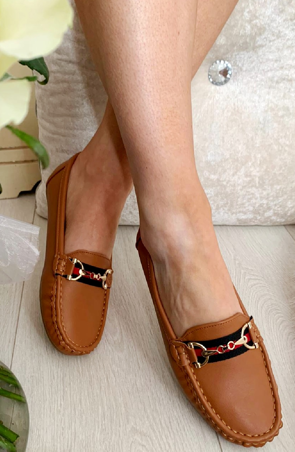 LADIES-WOMENS-FLATS-SLIP-ON-LOAFERS-WORK-OFFICE-BUCKLE-PUMPS-COMFY-SHOES-SZ-3-8 thumbnail 15