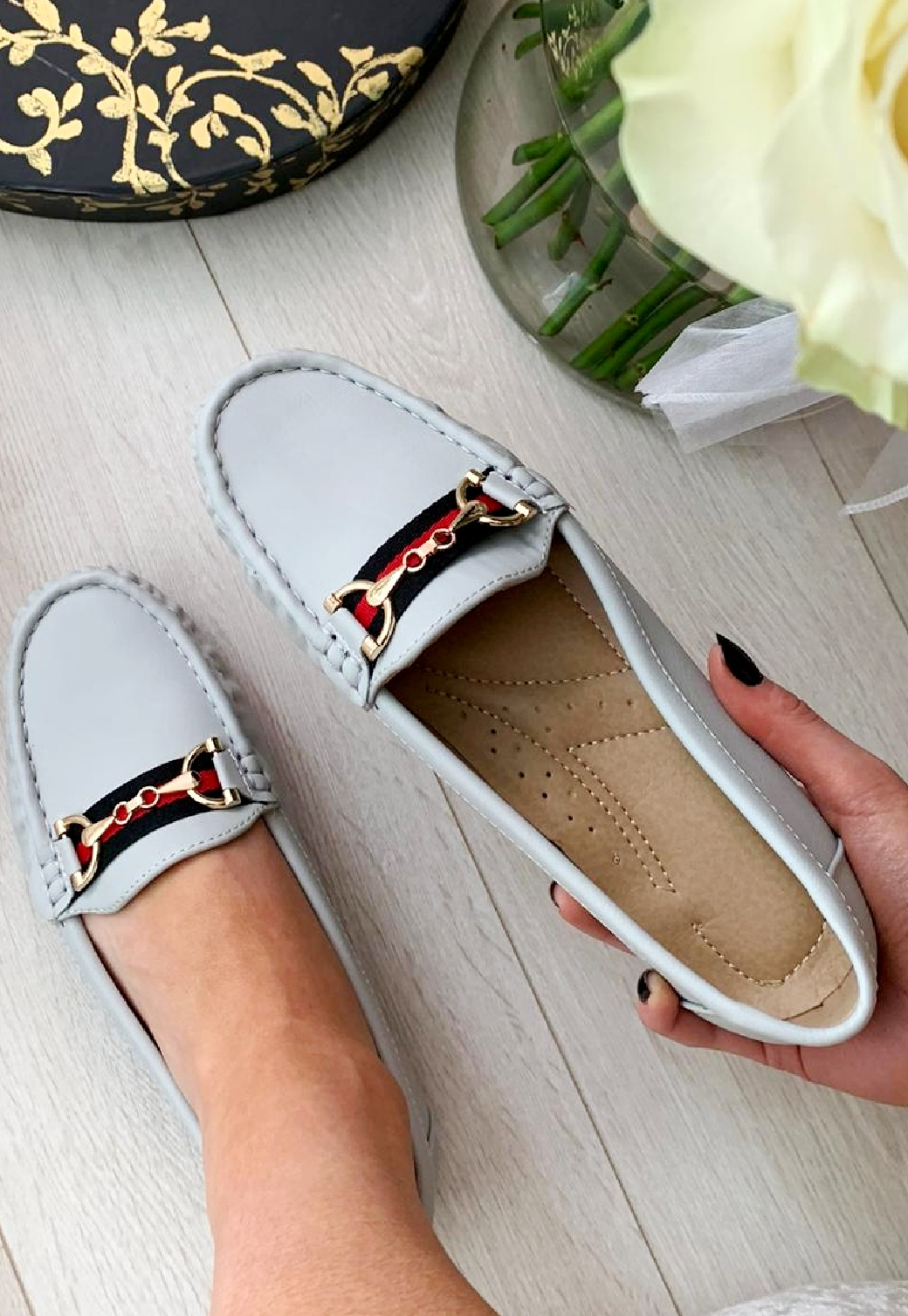 LADIES-WOMENS-FLATS-SLIP-ON-LOAFERS-WORK-OFFICE-BUCKLE-PUMPS-COMFY-SHOES-SZ-3-8 thumbnail 19