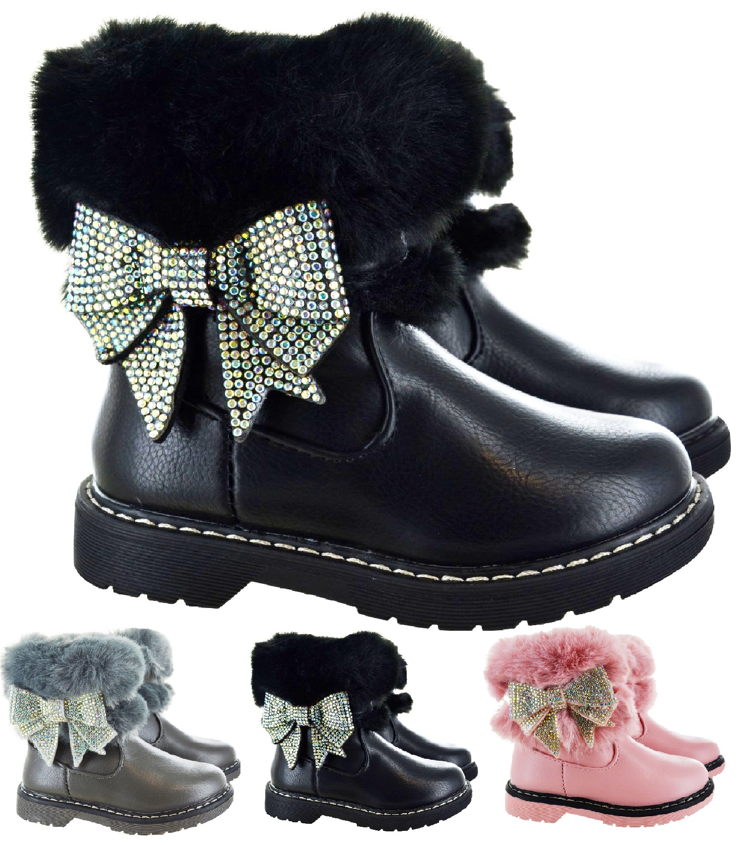 GIRLS WINTER ANKLE COMFY CASUAL SCHOOL