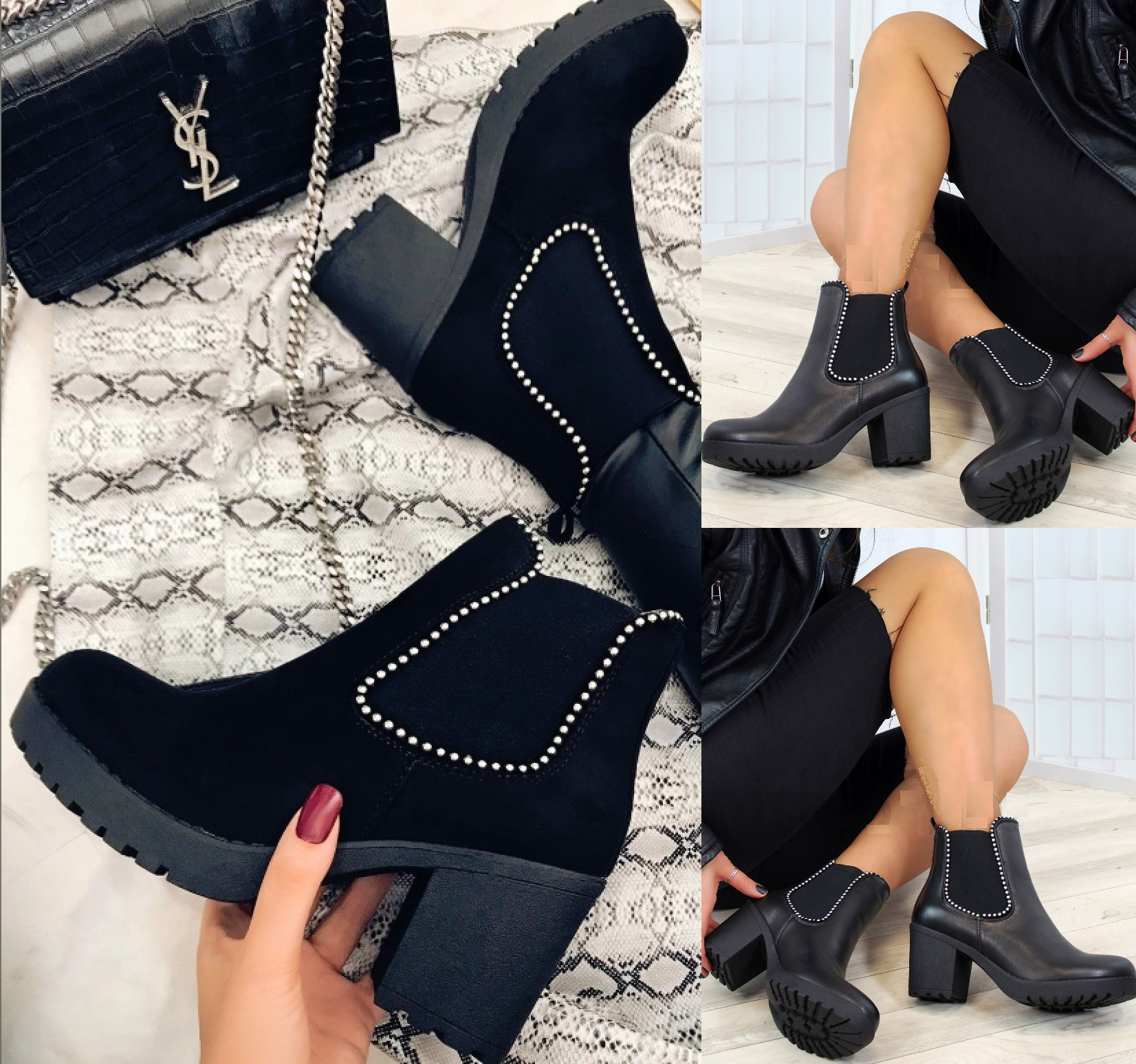 Details zu LADIES WOMENS ANKLE BLOCK CHUNKY HIGH PLATFORM HEELS SHOES CHELSEA BOOTS SIZE