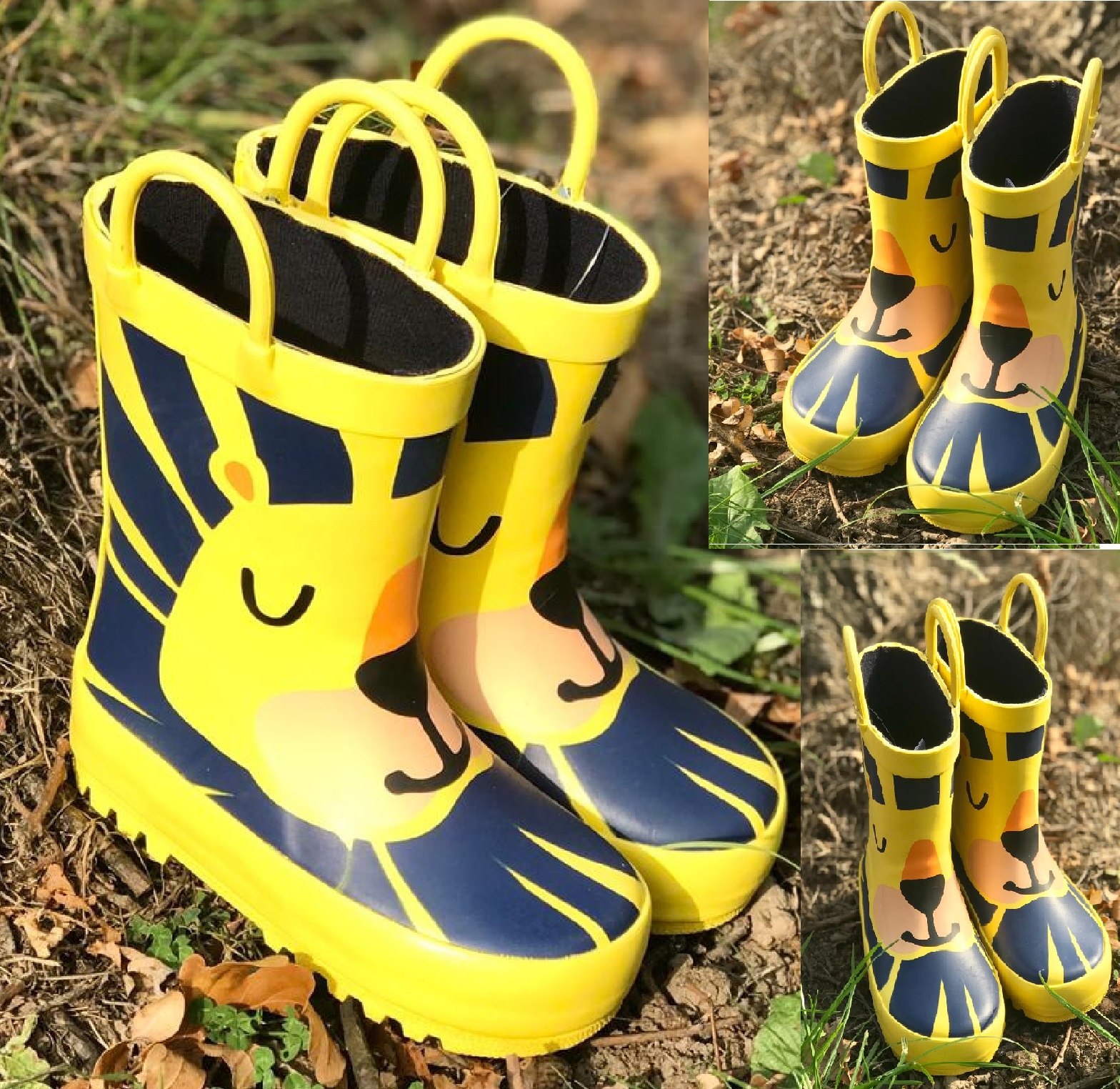 Boys Kids Batman Infants//Junior Rain Wellies Wellington Boots Sizes 8 to 2