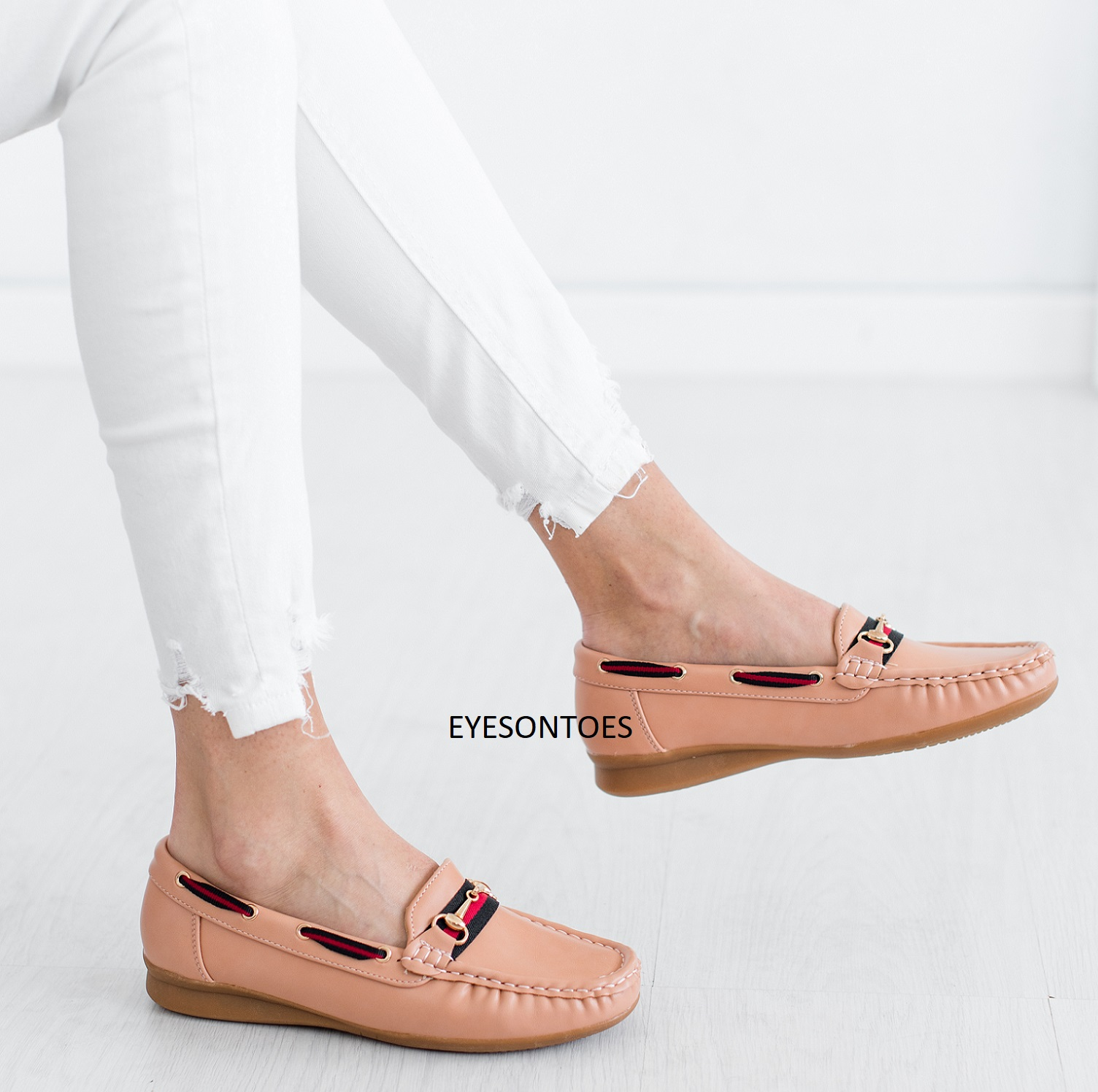 WOMENS LADIES LOAFERS FLATS CASUAL OFFICE WORK PUMPS SHOES SIZES 3-8 ROUND TOES