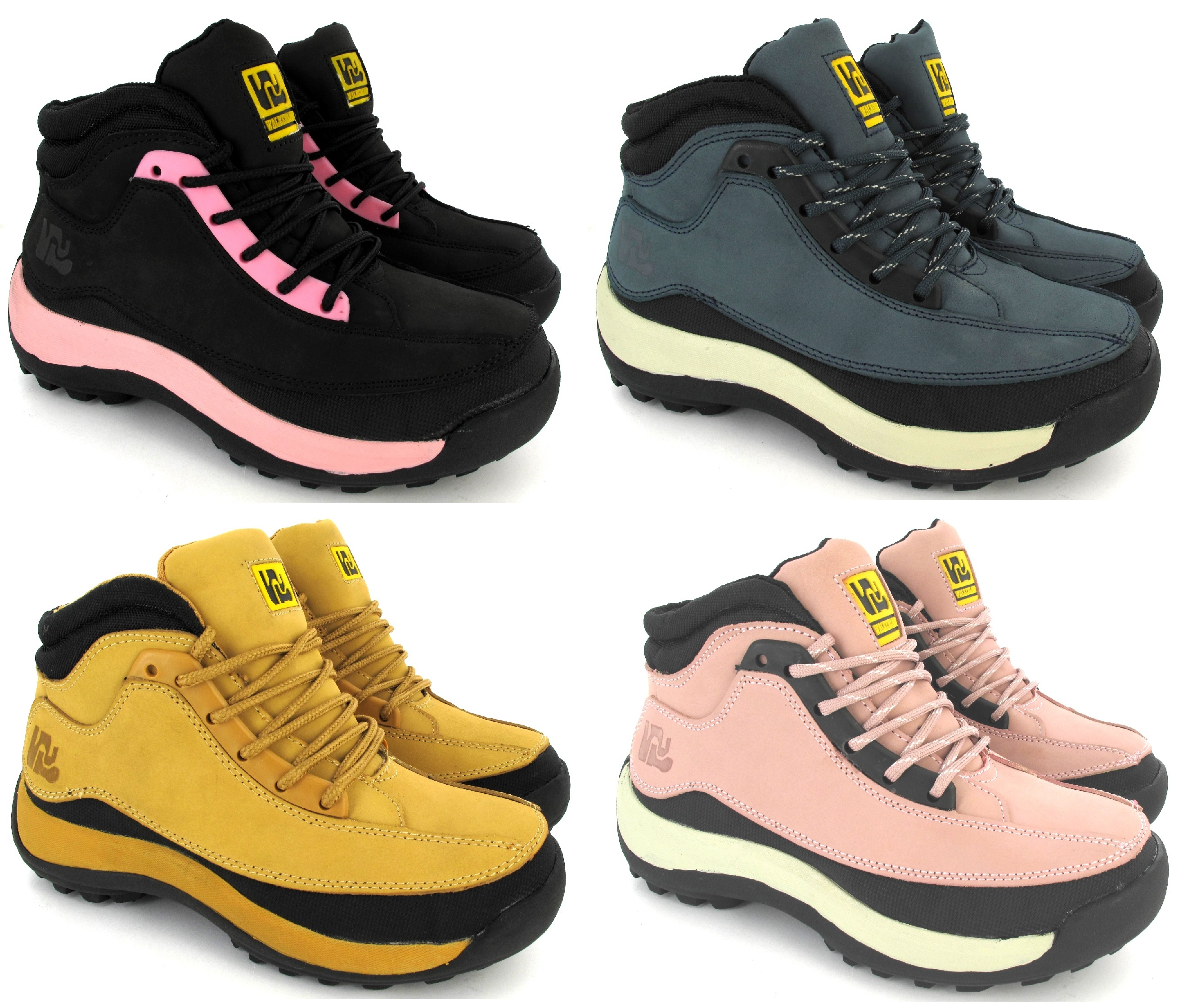 Ladies safety womens leather steel toe caps hiking ankle - Calzado de seguridad ...