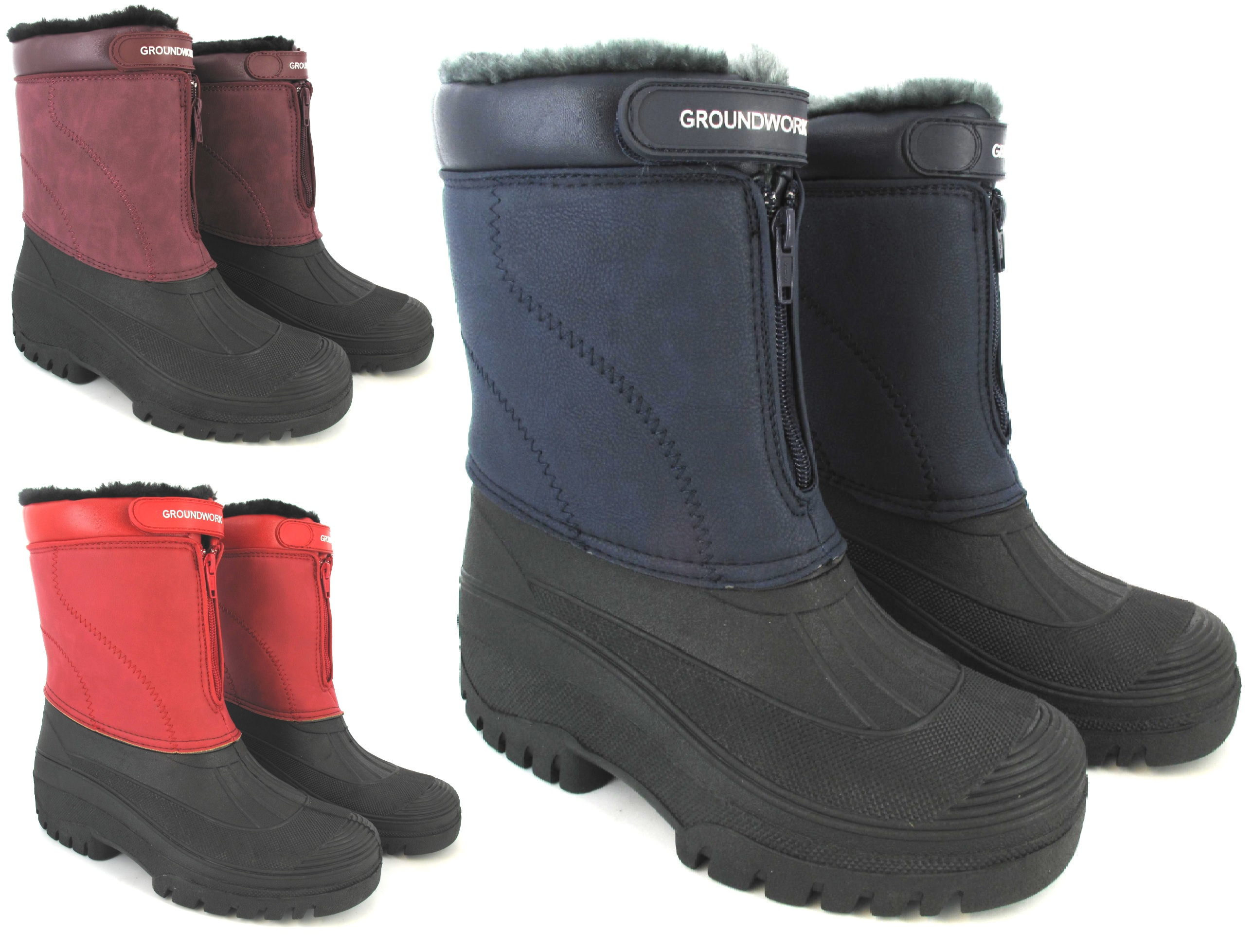 código promocional 6d2f5 0656c Details about Mujer Botas De Nieve Mugrero Impermeable Térmico Agua Piel  Esquí Invierno