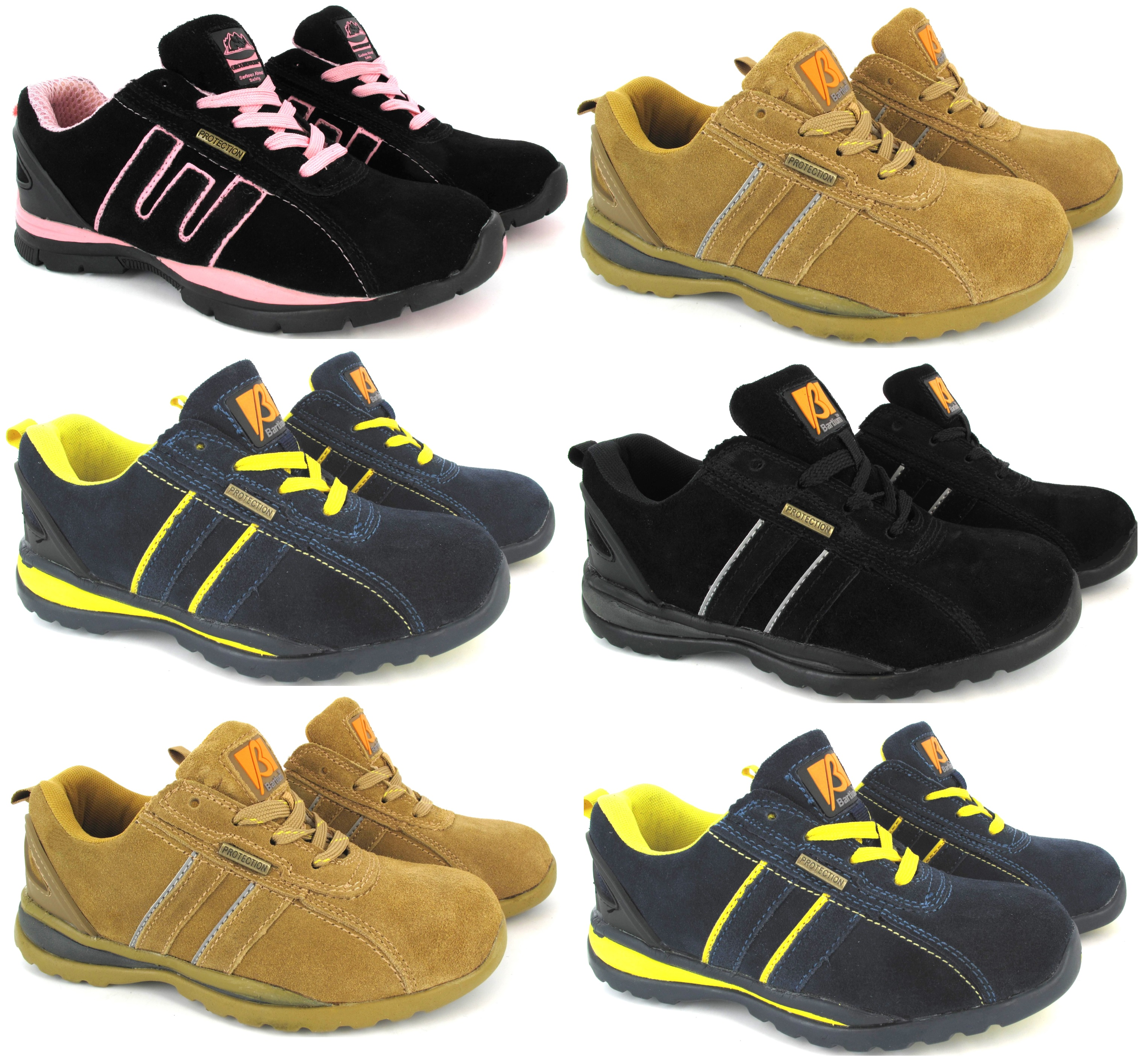 f553bfadff Sentinel WOMANS SAFETY TRAINER LIGHTWEIGHT STEEL TOE CAP LEATHER WORK  OFFICE SHOES BOOTS