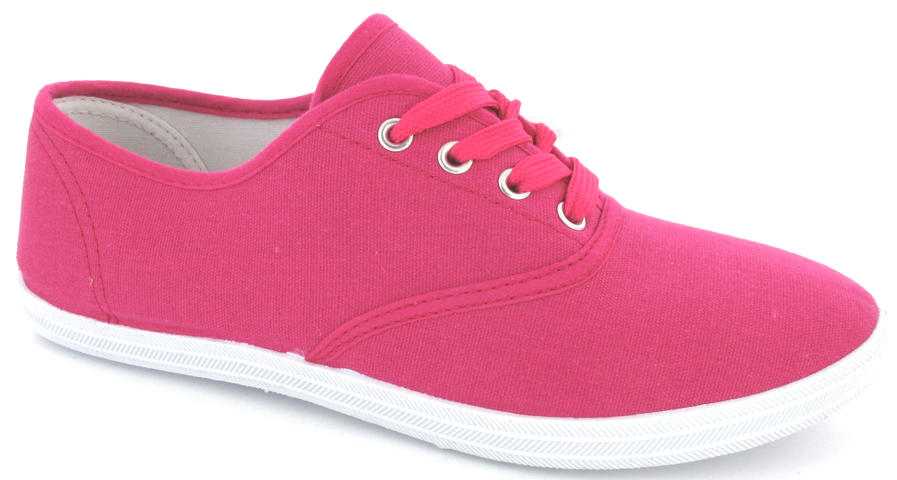 Fuschia Pink And Black Shoes