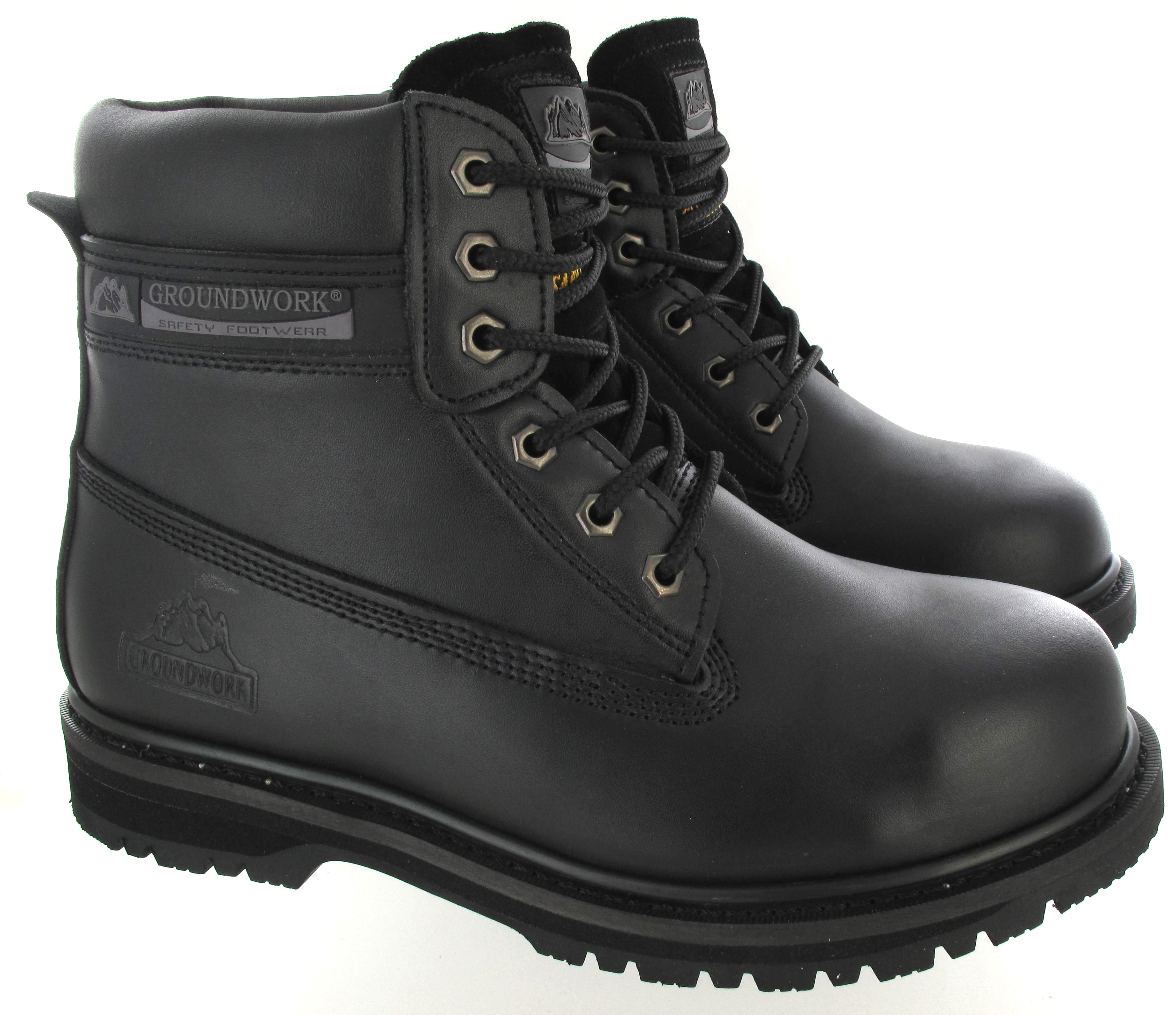 Steel Toe Leather Work Shoes