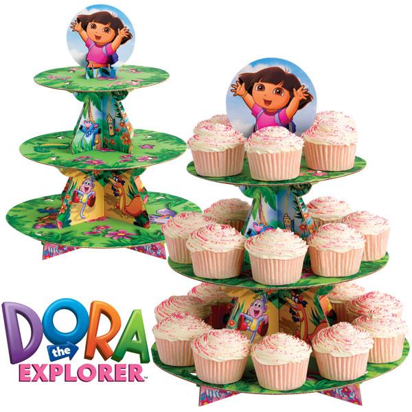Wilton Dora The Explorer Cupcake Cake Stand Display Kids Birthday Party