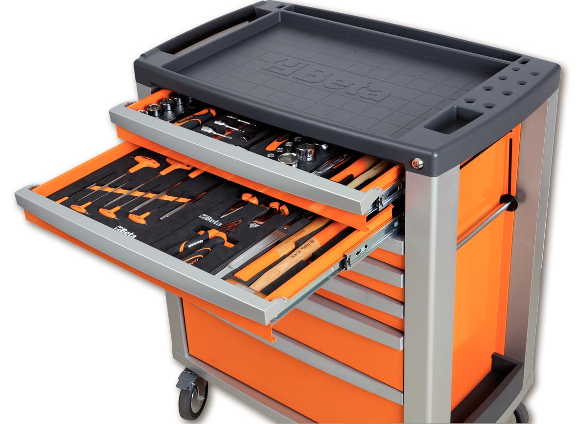 Beta Tools C39O/7 Mobile Roller Cabinet Tool Box 7 Drawers Roll ...