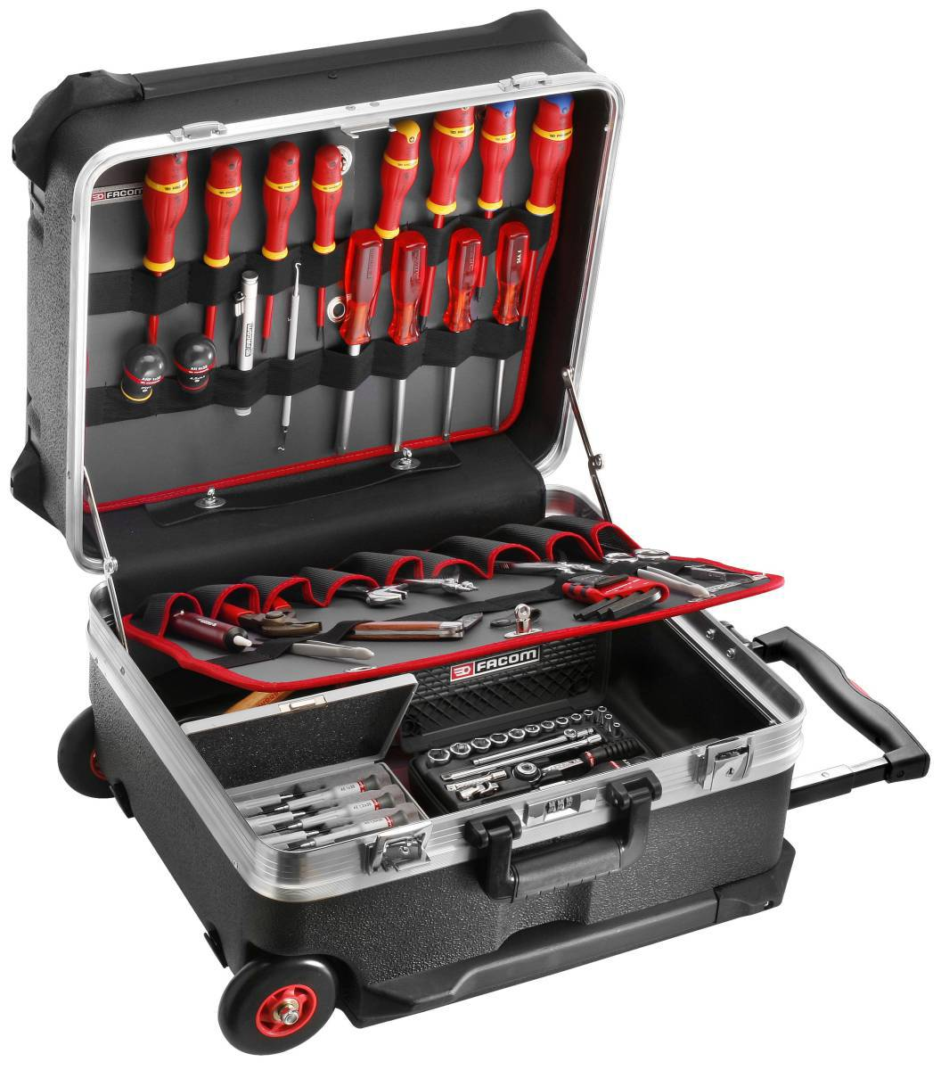 facom electricians technicians tool set kit in trolley case 2061 em41a ebay. Black Bedroom Furniture Sets. Home Design Ideas