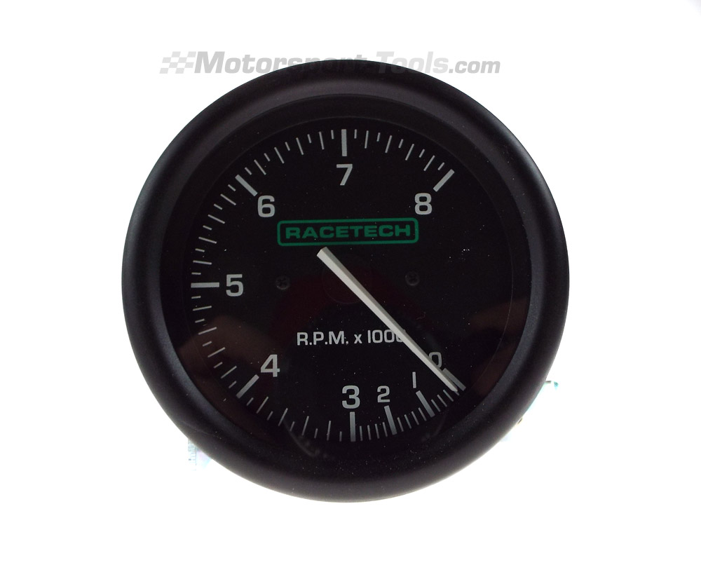 RTTC8_01 racetech tachometer rev counter gauge 0 8000 rpm ebay racetech rev counter wiring diagram at n-0.co