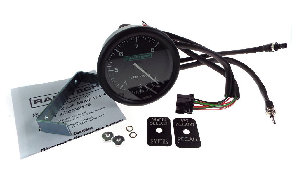 RTTC8_02 racetech tachometer rev counter gauge 0 8000 rpm ebay racetech rev counter wiring diagram at n-0.co