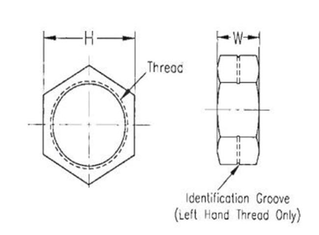 Motamec JNL10S Jam Lock Half Nut 5//8 UNF LEFT HAND Thread Rod End Rose Joint