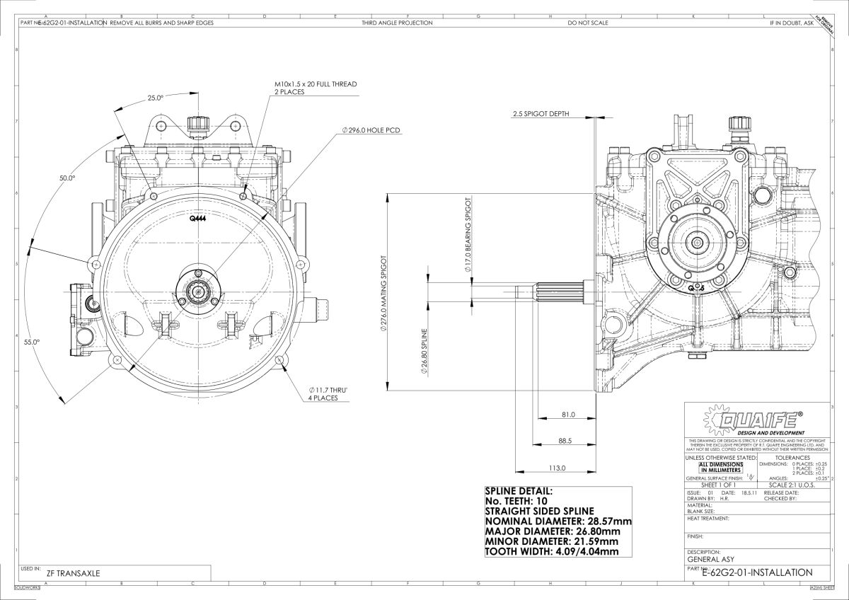 Quaife Zf Transaxle 5 Speed H Pattern Gearbox Ebay
