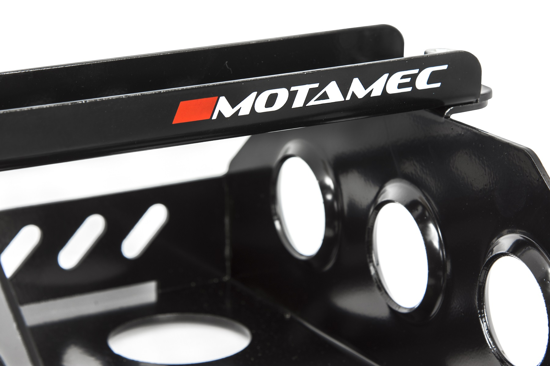 Anodized Motamec Alloy Race Battery Tray Red Top 40 Flat Mounting Box
