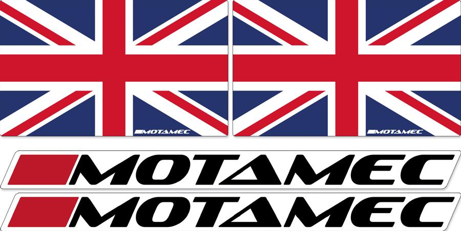 Motamec Rally Driver Co-Driver Window Side Sticker Set Wales Welsh Flag
